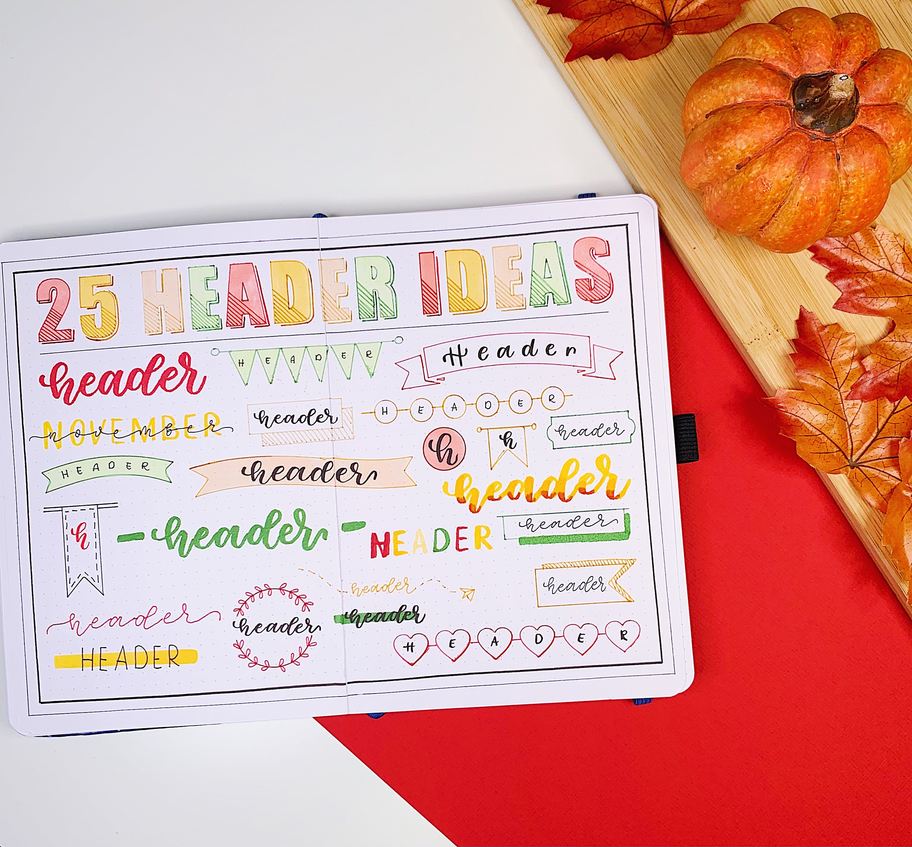 20 Bullet Journal Header Ideas to keep you inspired – Archer and ...