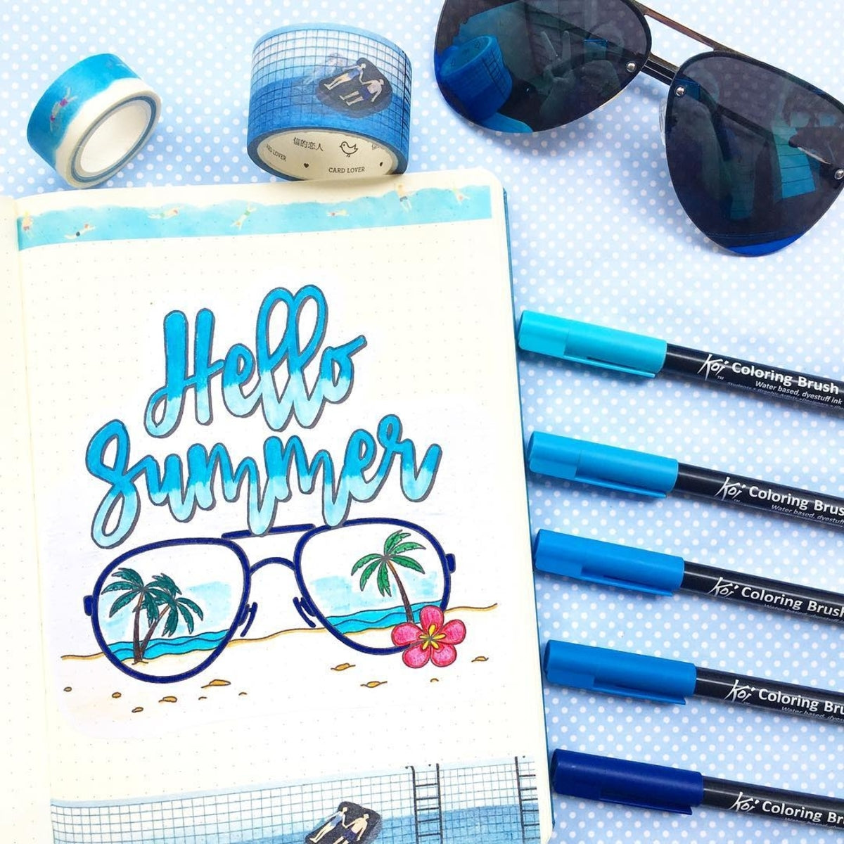 Blue Summer Bujo Theme