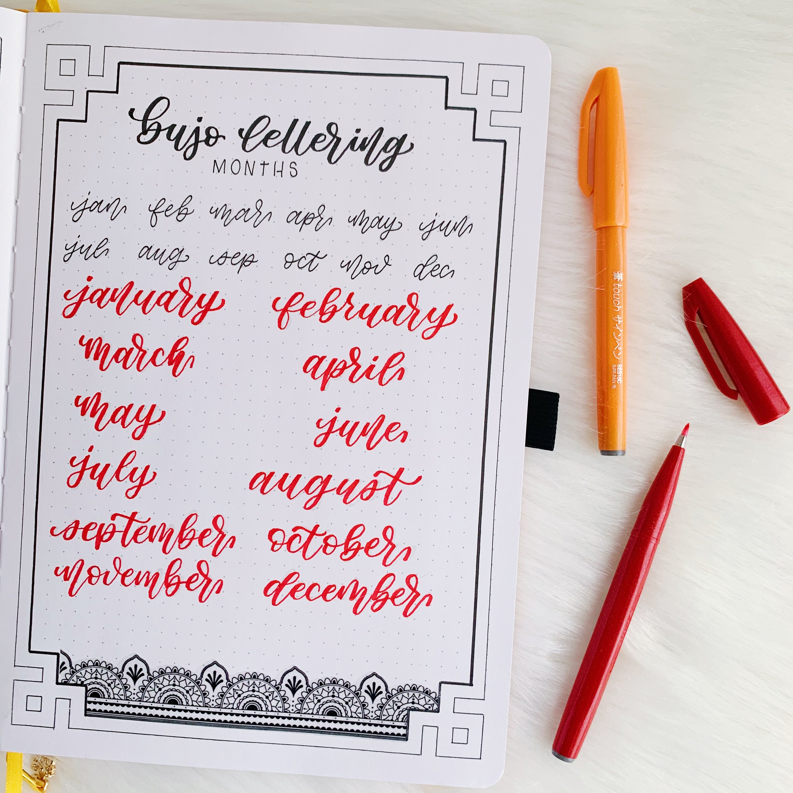 lettering example