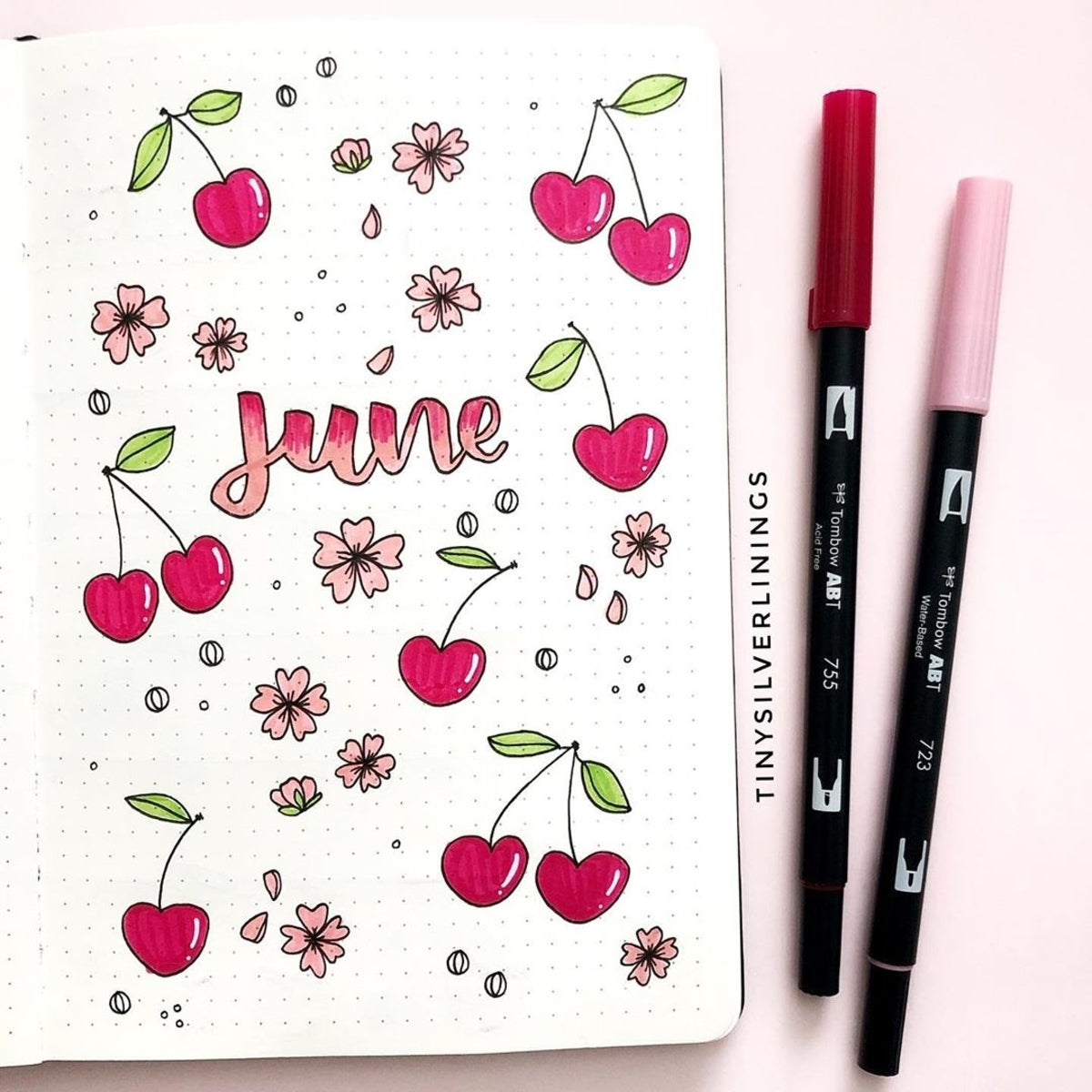 Summer Cherry Bullet Journal Theme