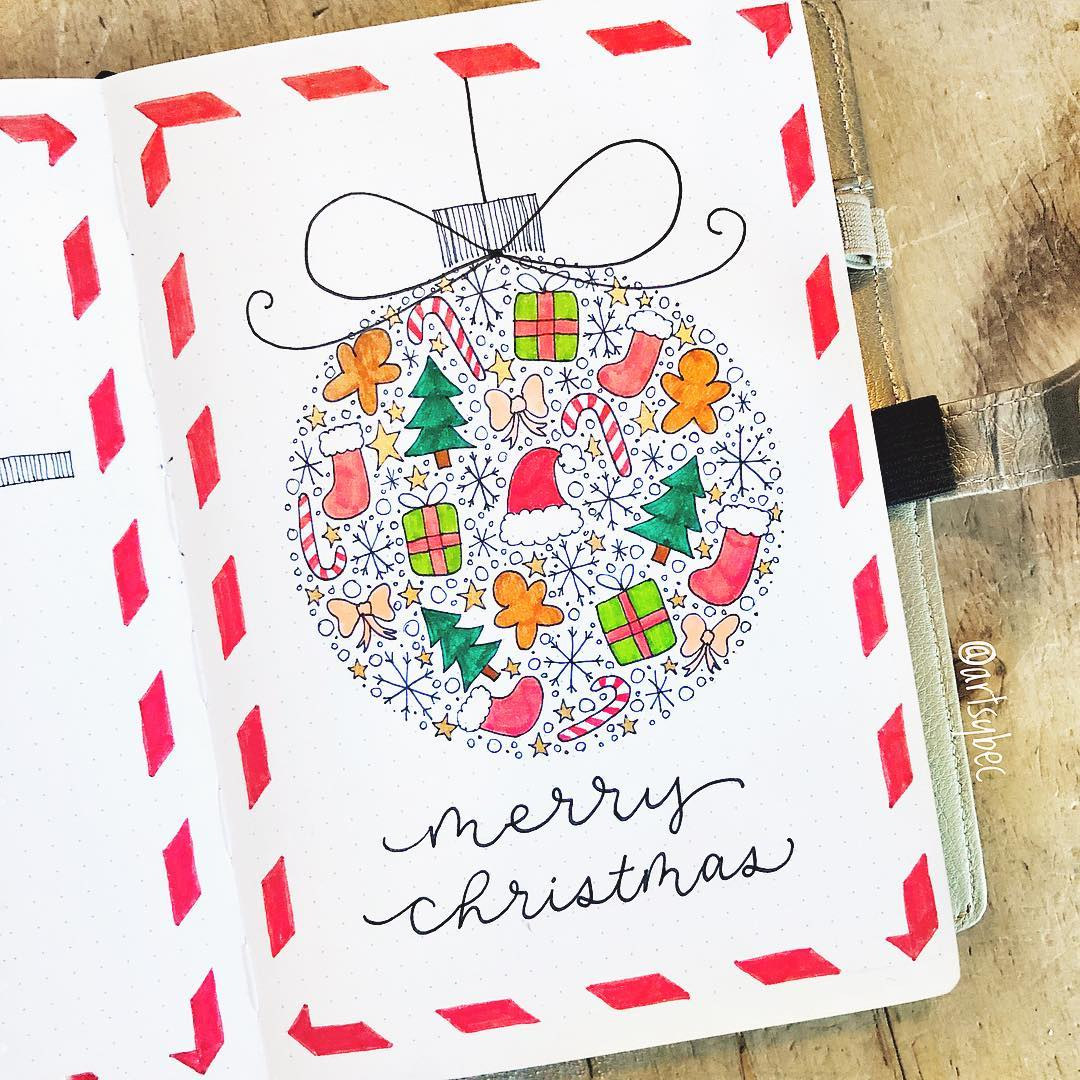 Christmas Doodle Bullet Journal
