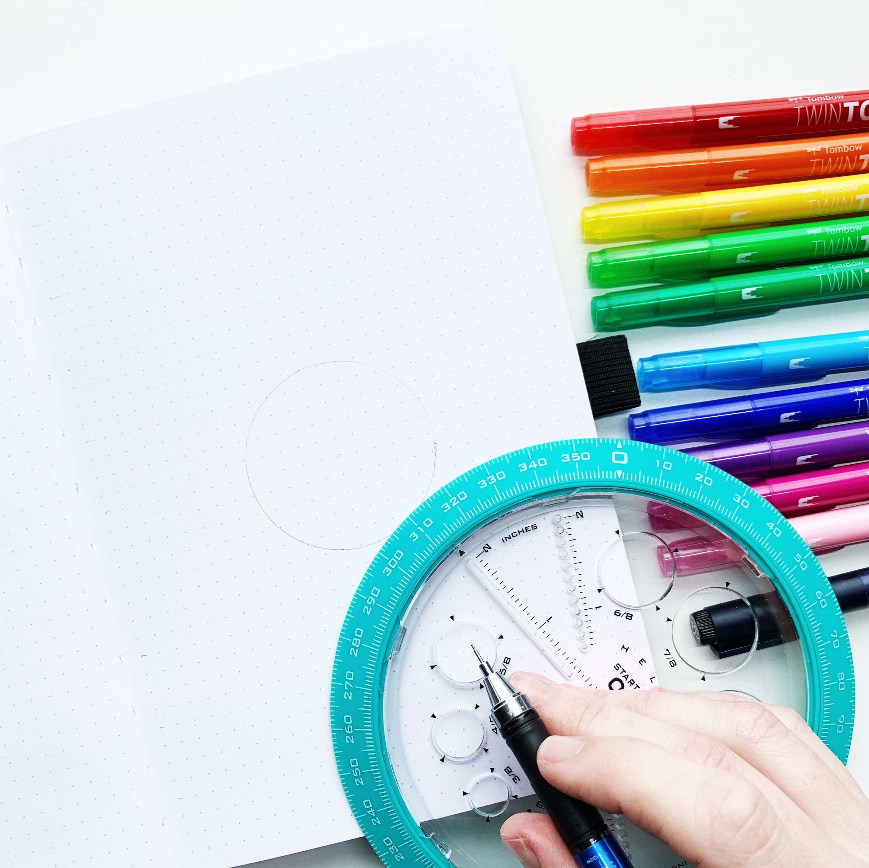 Learn how to create a February Rainbow Pattern Cover Page with Adrienne from @studio80design!