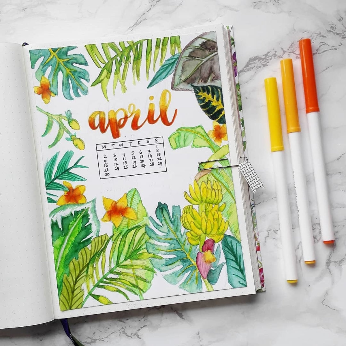 Tropical Summer Journal Theme