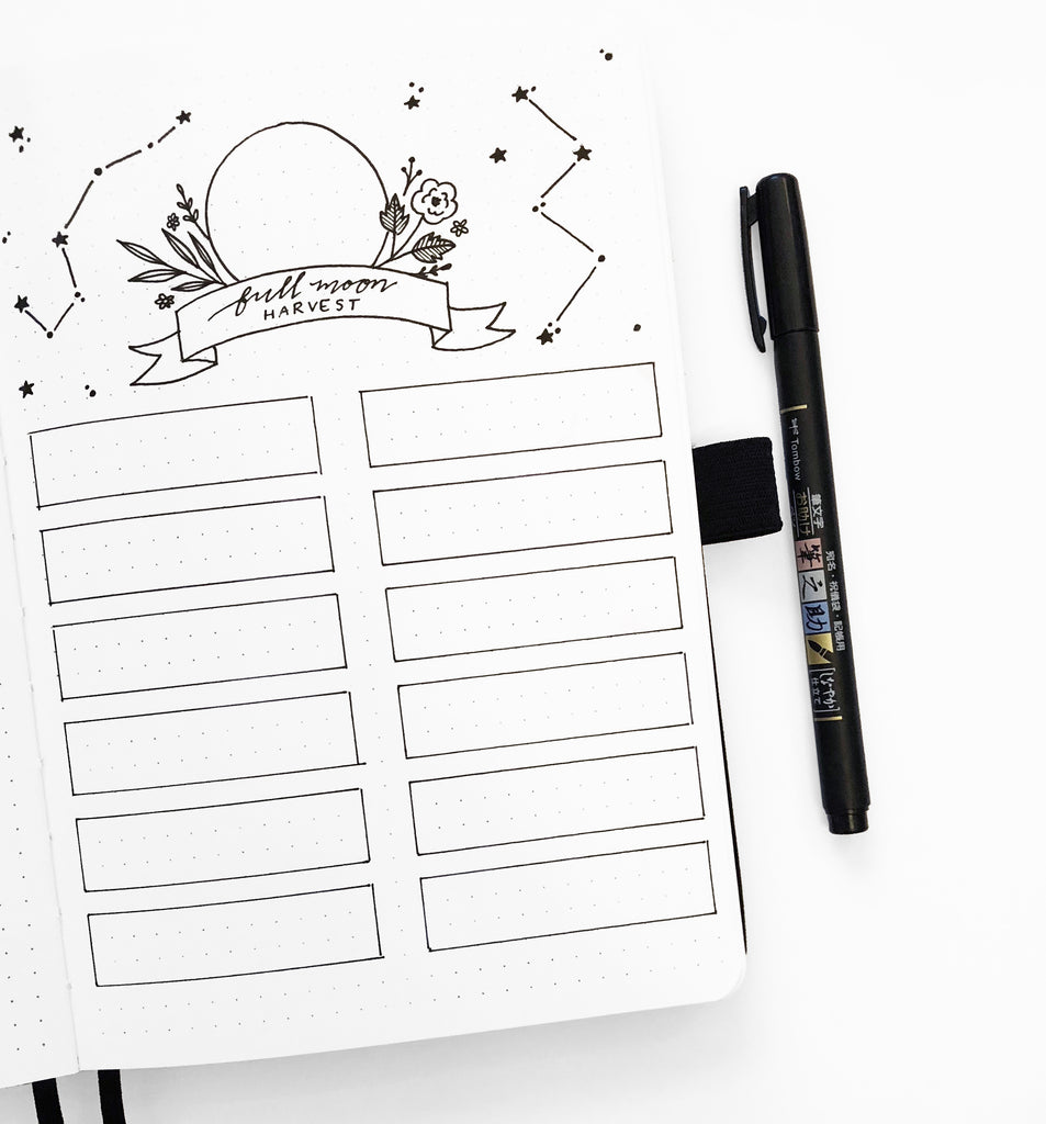 Bullet Journal Layouts for Each Phase of the Moon