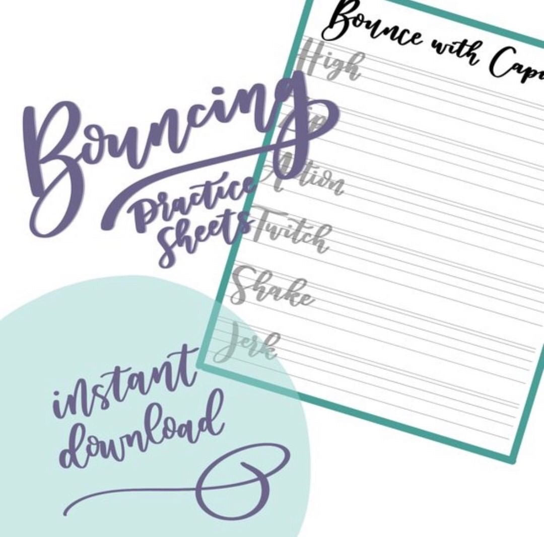 Bounce Lettering Printable