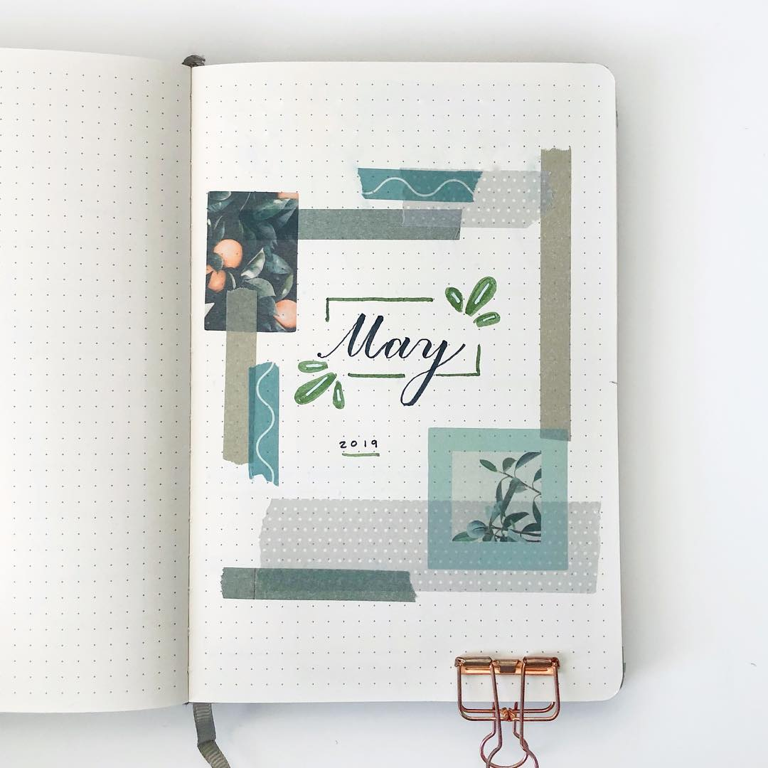 Bullet Journal Washi Cover Page