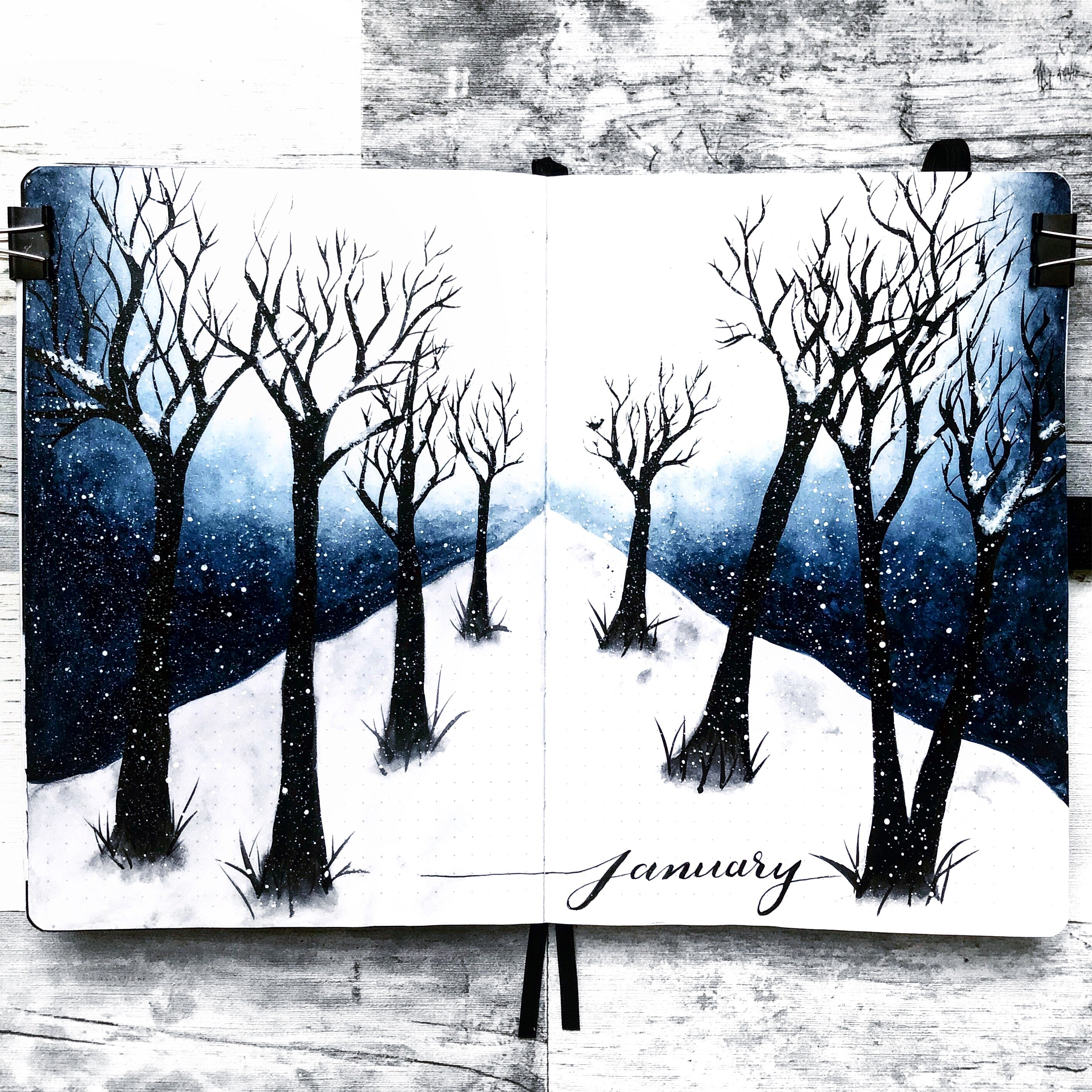 Snowy painting