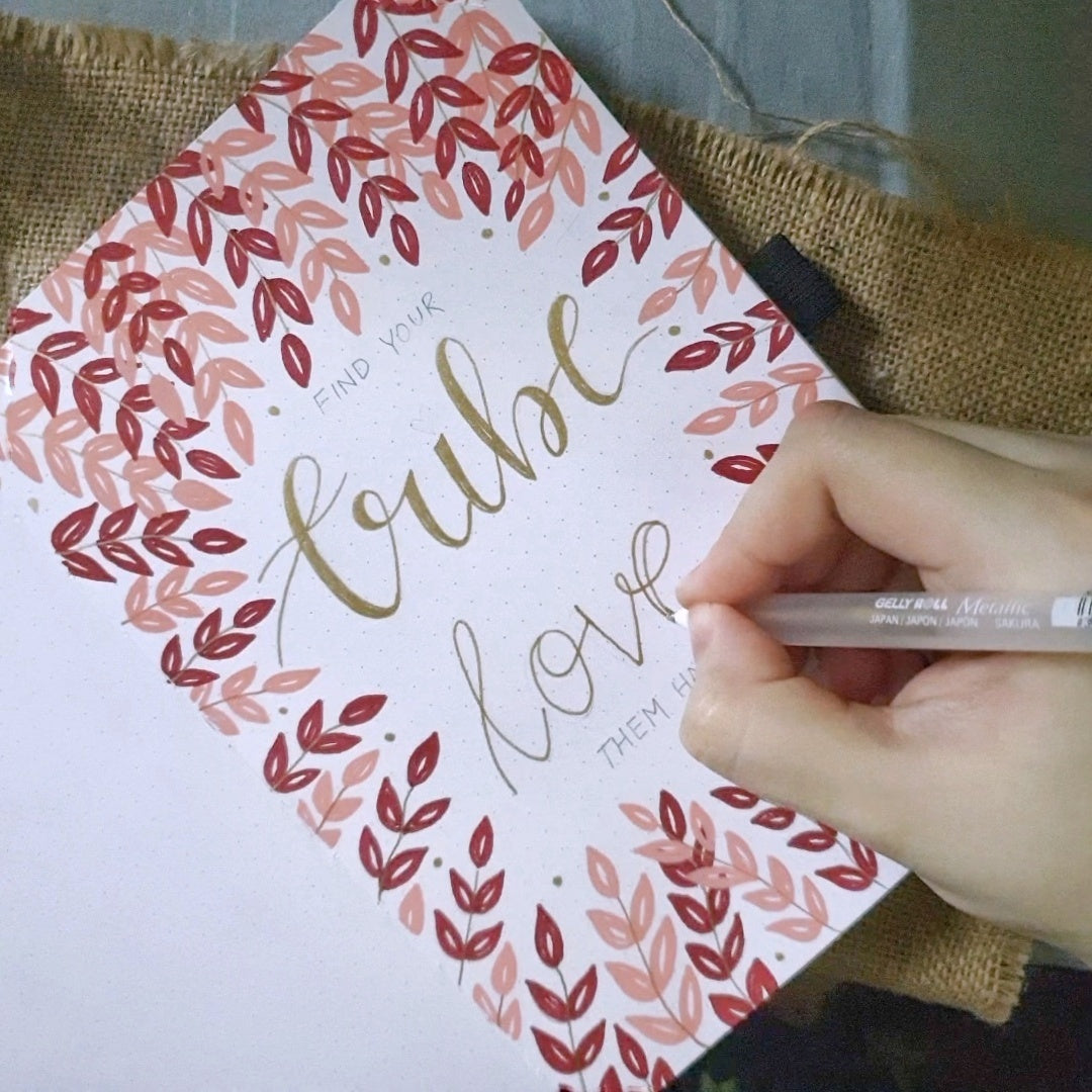 Lettering Leaves Tutorial