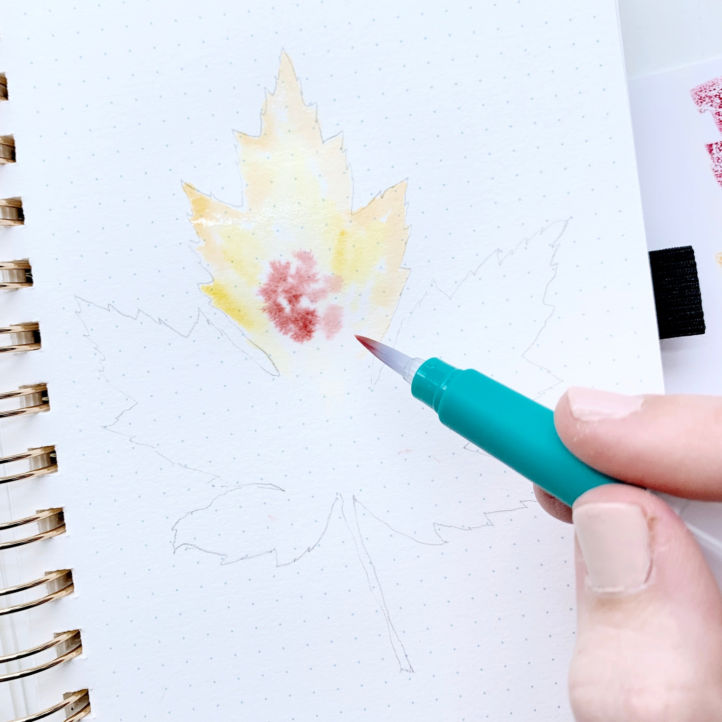 Learn how to create a fall leaf watercolor illustration with Adrienne from @studio80design!