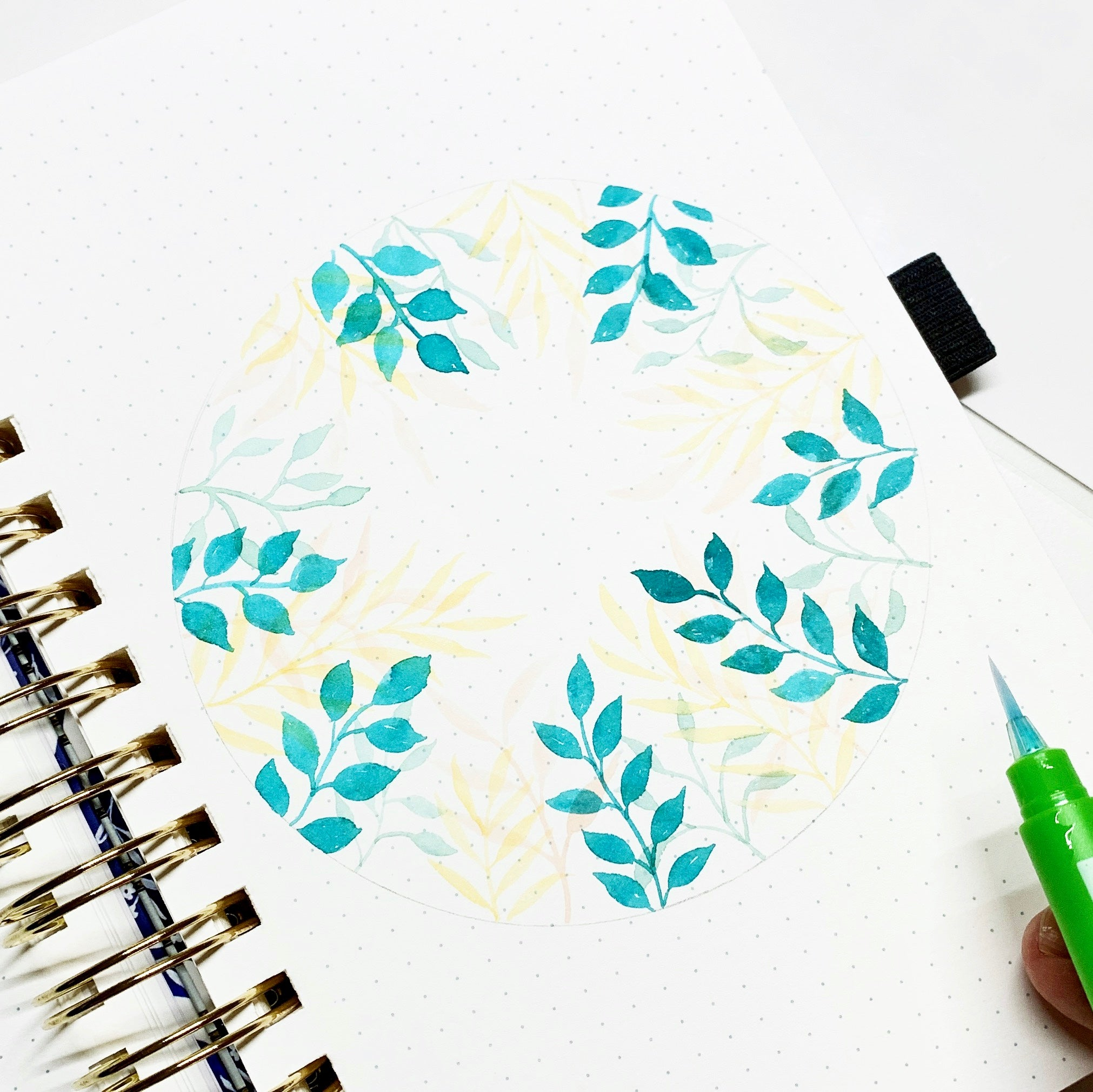 Learn how to create a fall foliage circle watercolor illustration with Adrienne from @studio80design!