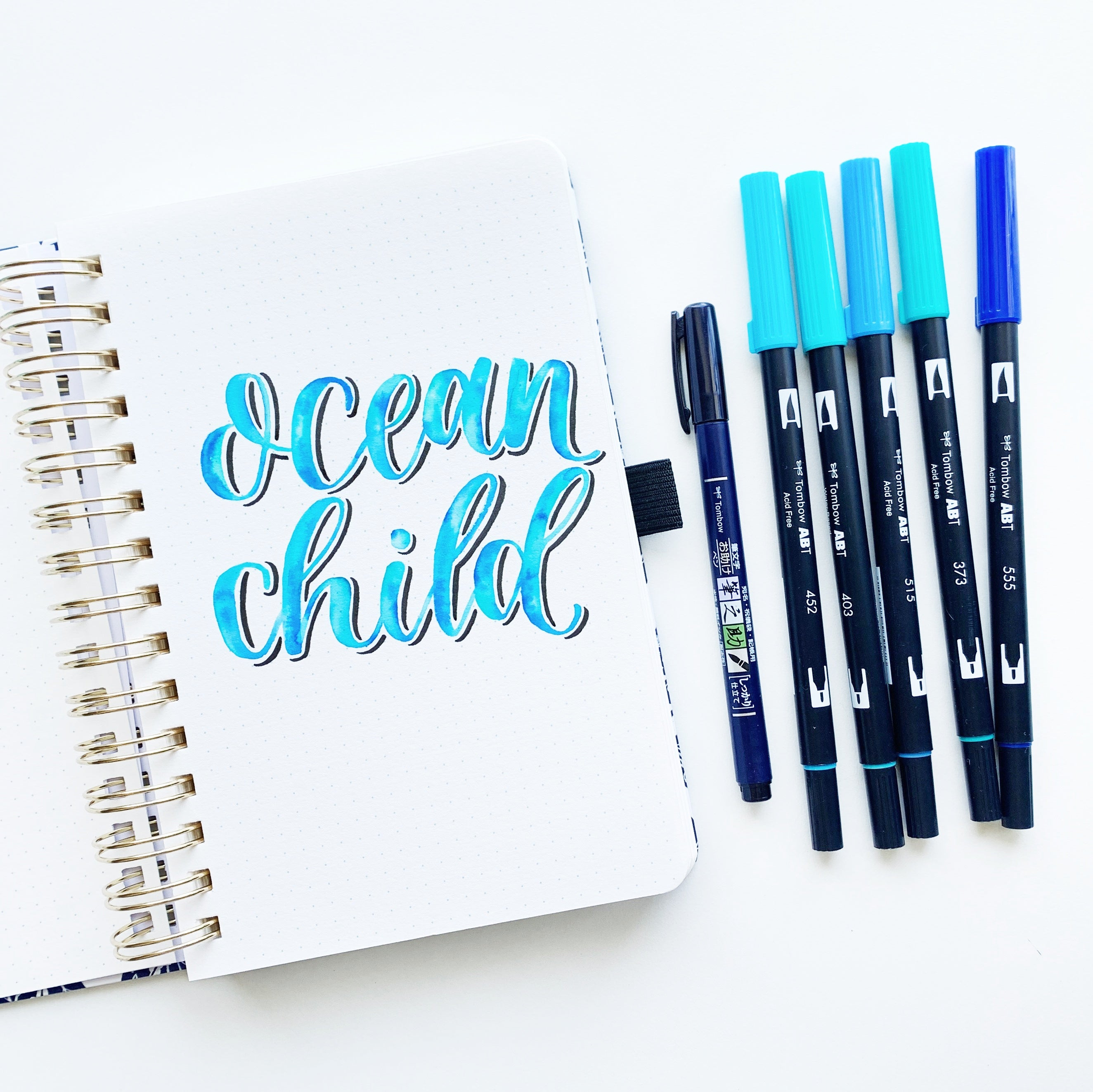 Watercolor lettering tutorial in the NEW Archer and Olive Watercolor Notebook with Adrienne from @studio80design!