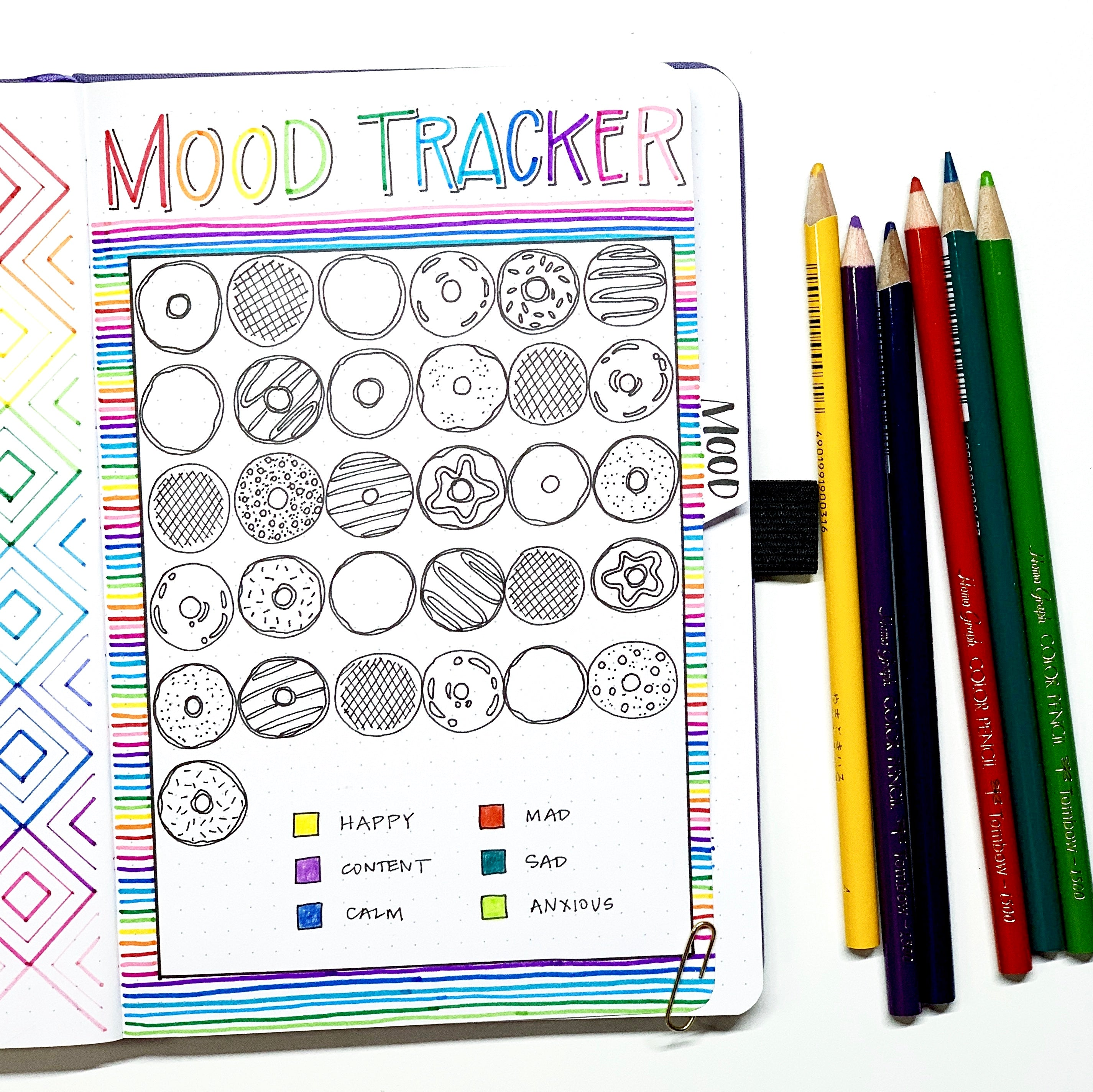 Learn how to create a donut mood tracker with Adrienne from @studio80design!