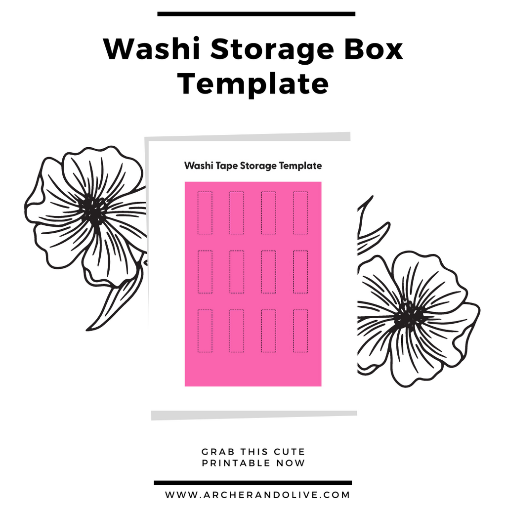 template to create your own washi tape storage on A5 box