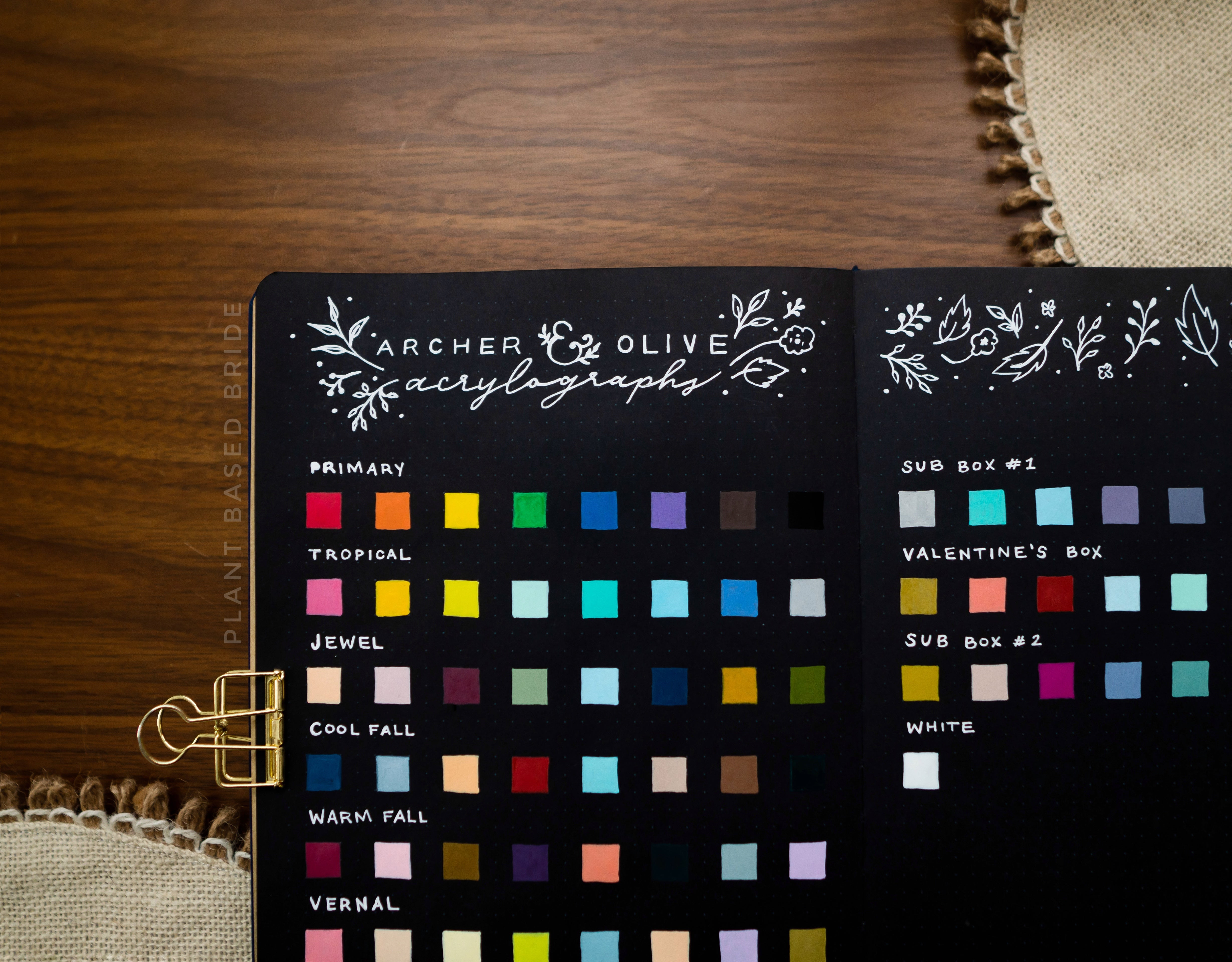 Archer & Olive Acrylograph Swatches Black Paper