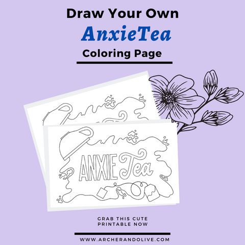 AnxieTea Coloring Page