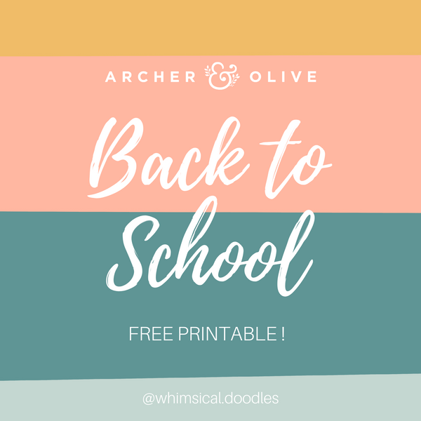 Free School Printable Bullet Journal