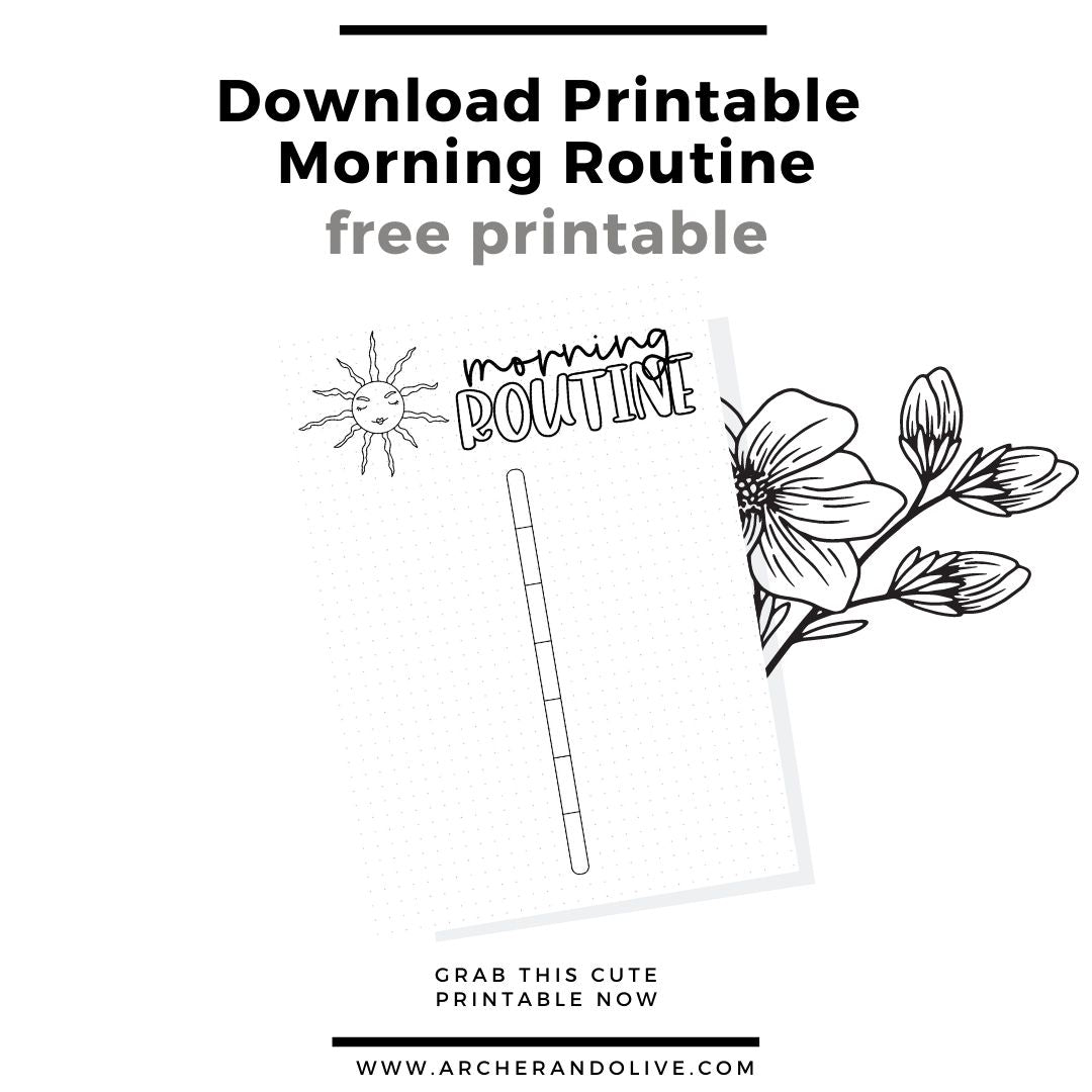 free printable, morning routine, masha plans, archer and olive, routine