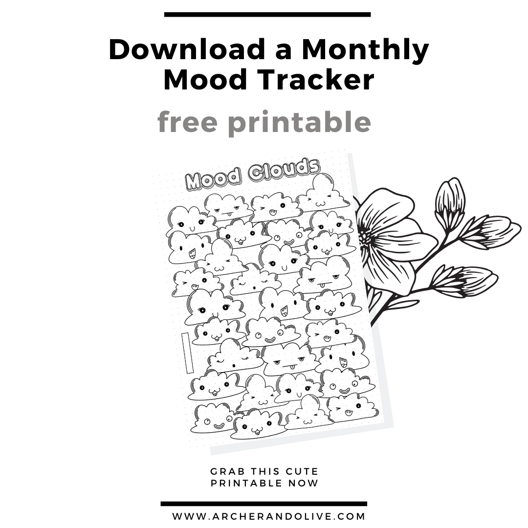 free printable, mood tracker, archer and olive, masha plans