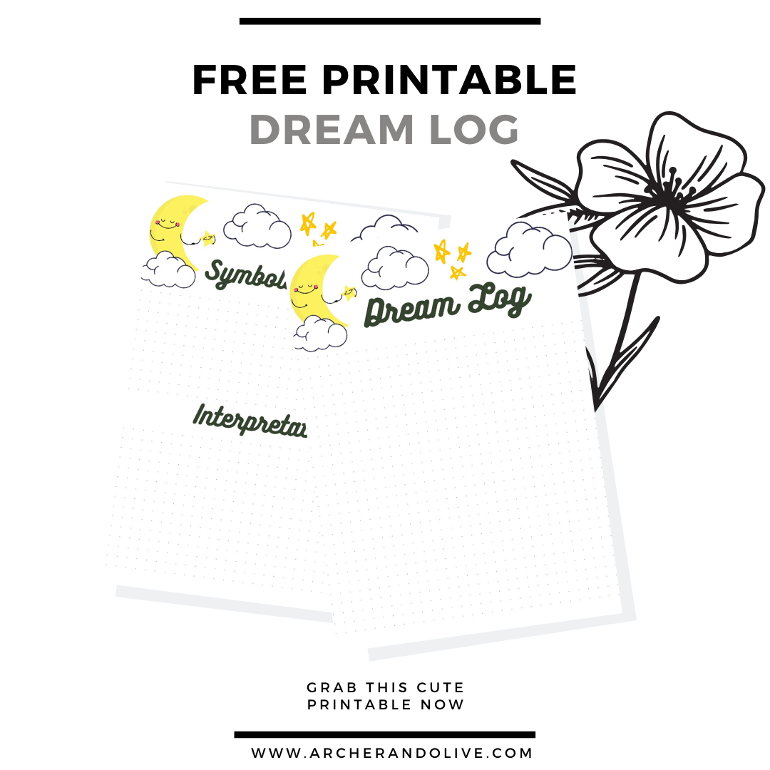 free printable, masha plans, archer and olive, dream log