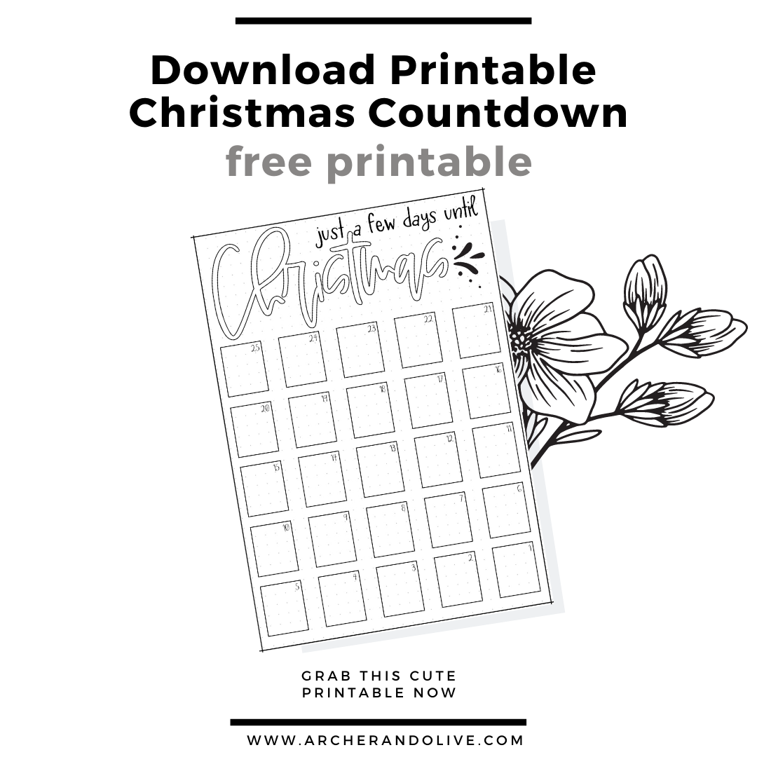 masha plans. free printable, freebie, christmas countdown