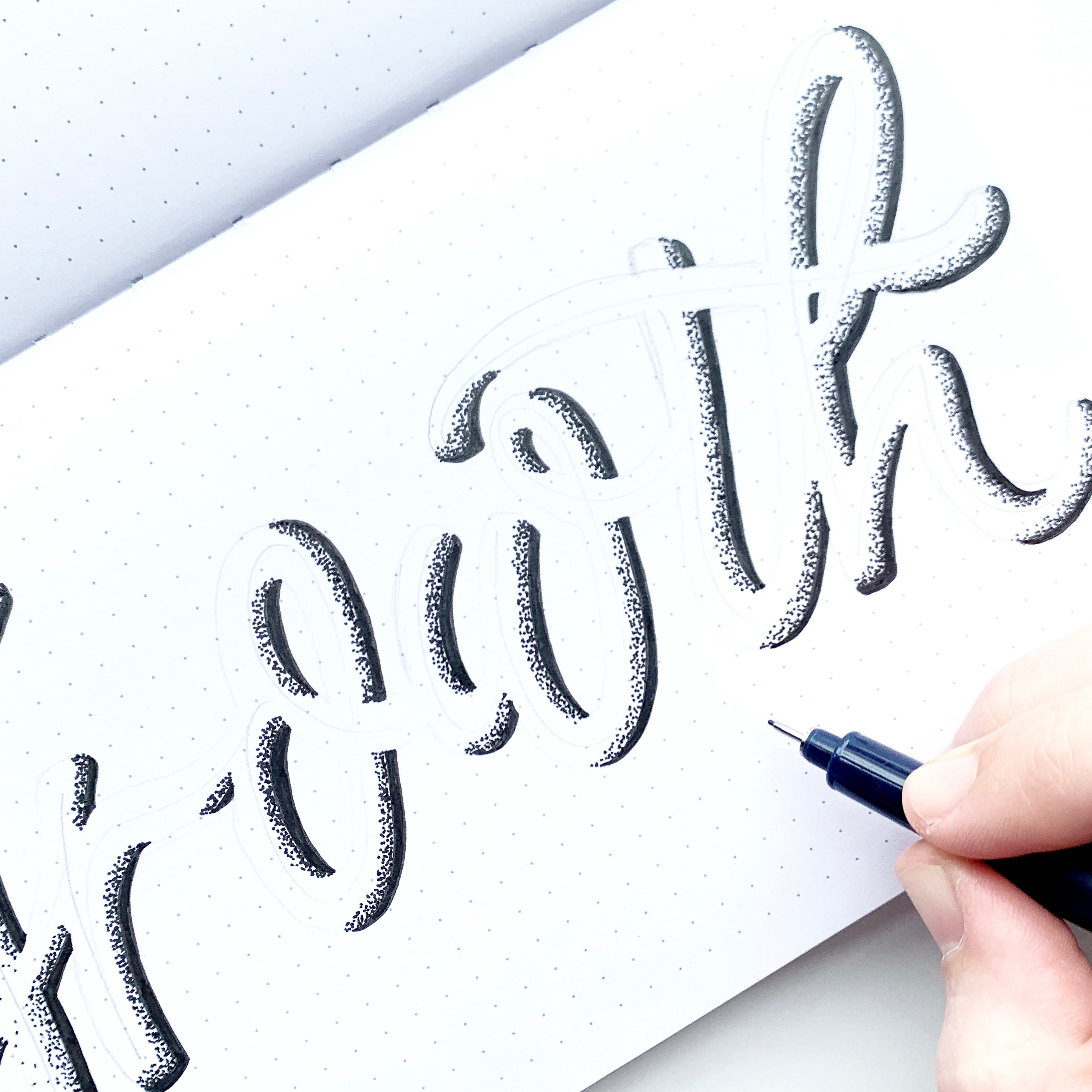 Hand lettering in your bullet journal with Adrienne from @studio80design
