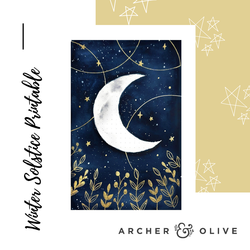Winter Solstice Journal Illustration Free Printable Bullet Journal