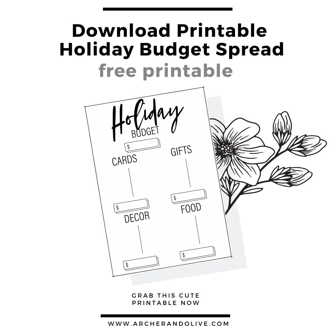 holiday printable spreads