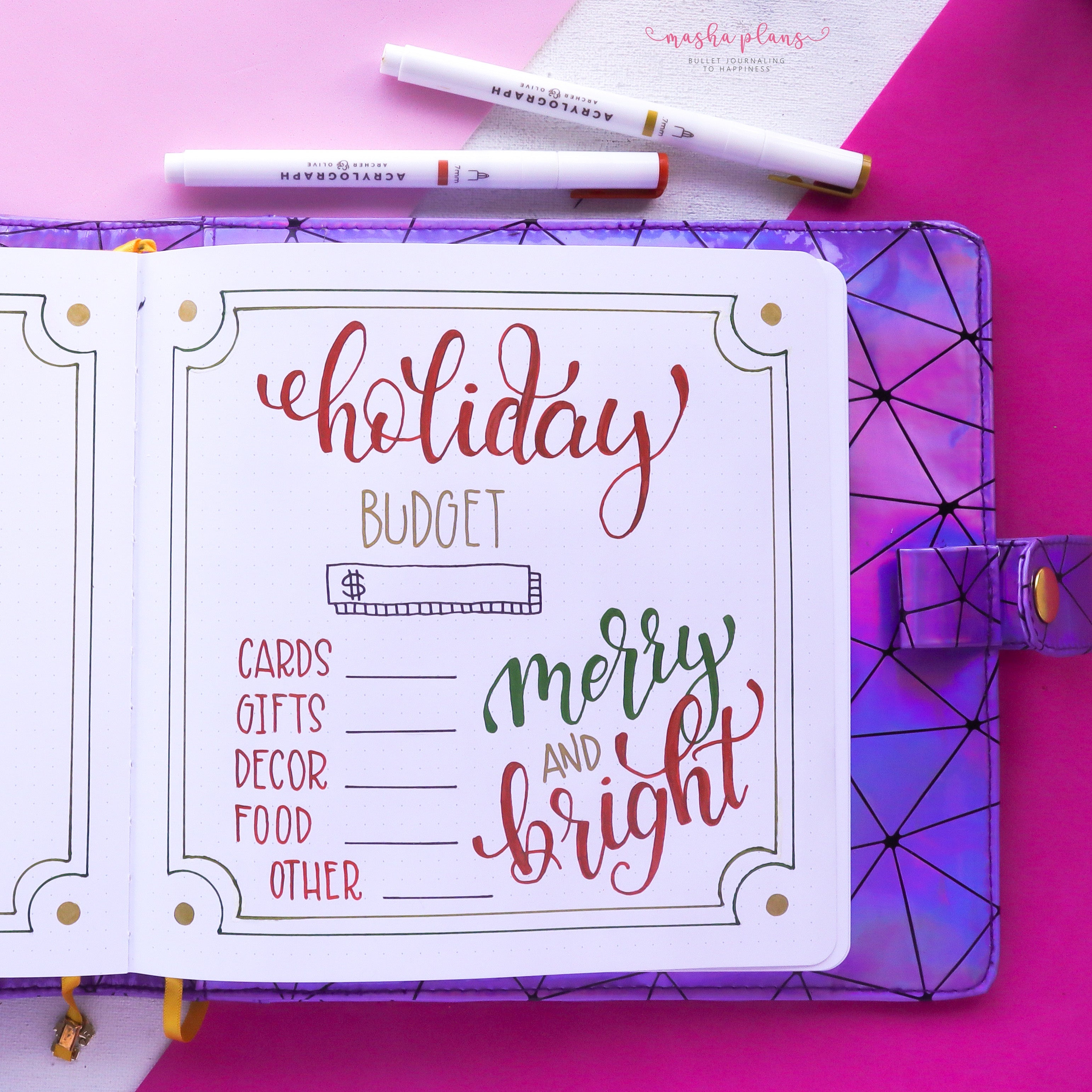 holiday budget spread