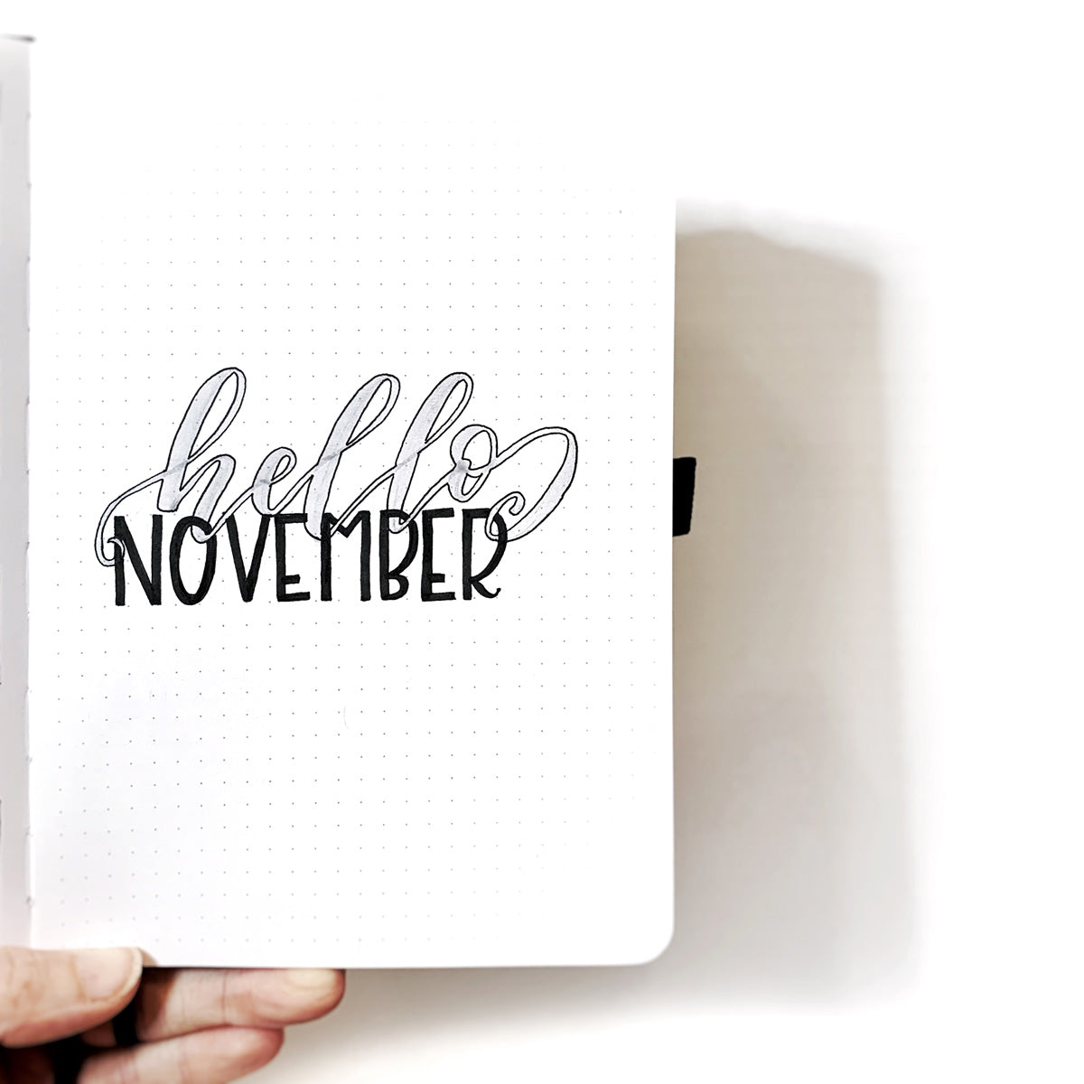 Hello November opening page for a bullet journal.