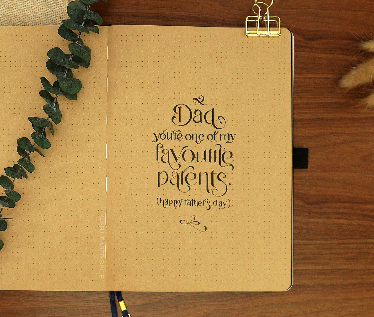 Father's Day Quote Page Kraft Paper Archer and Olive