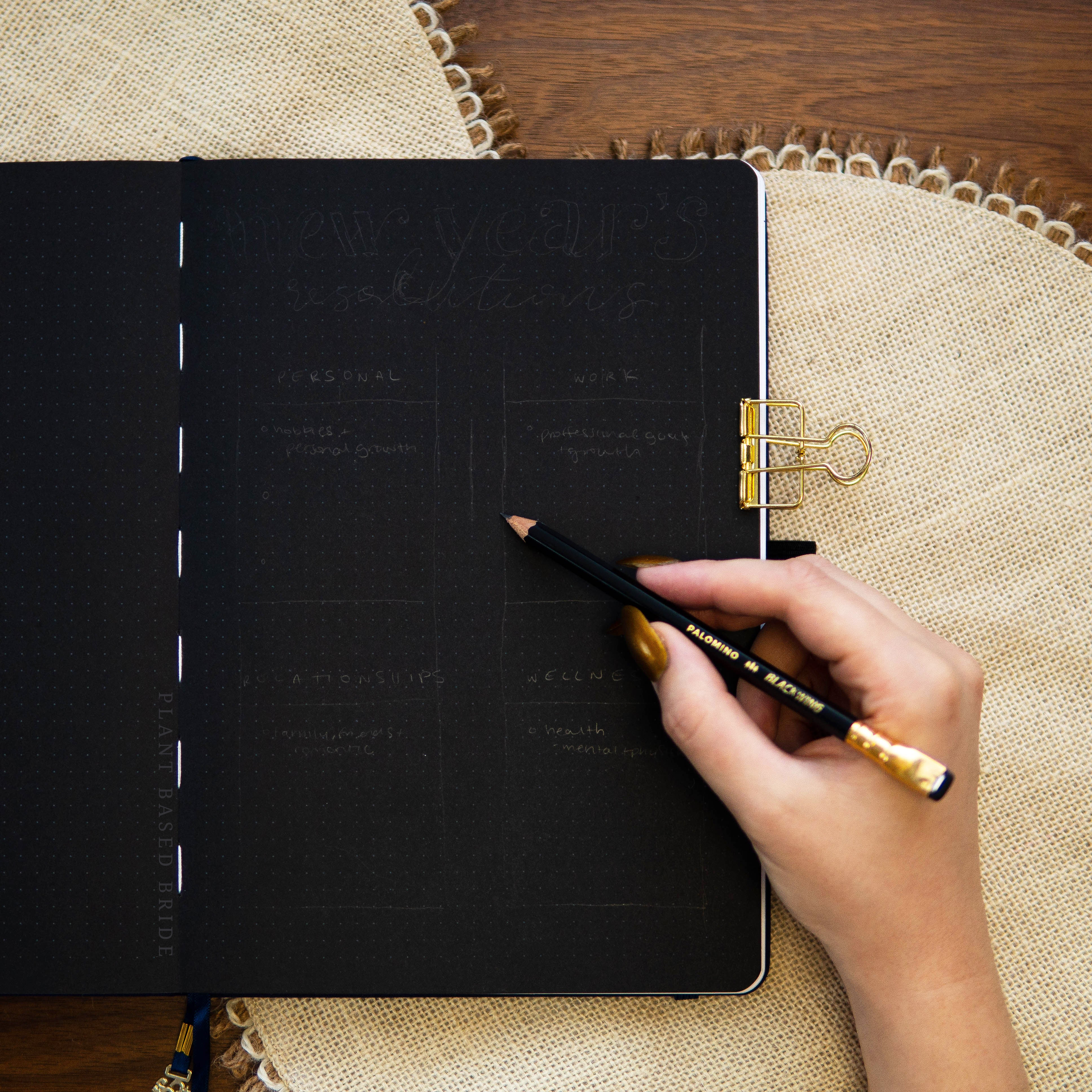 Bullet Journal New Year's Resolutions Spread