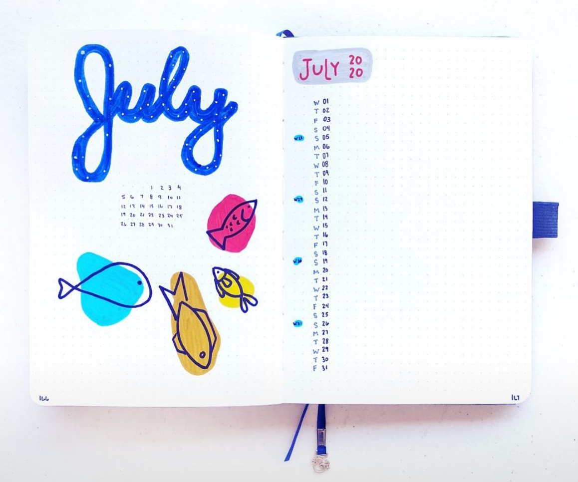 simple illustrated monthly