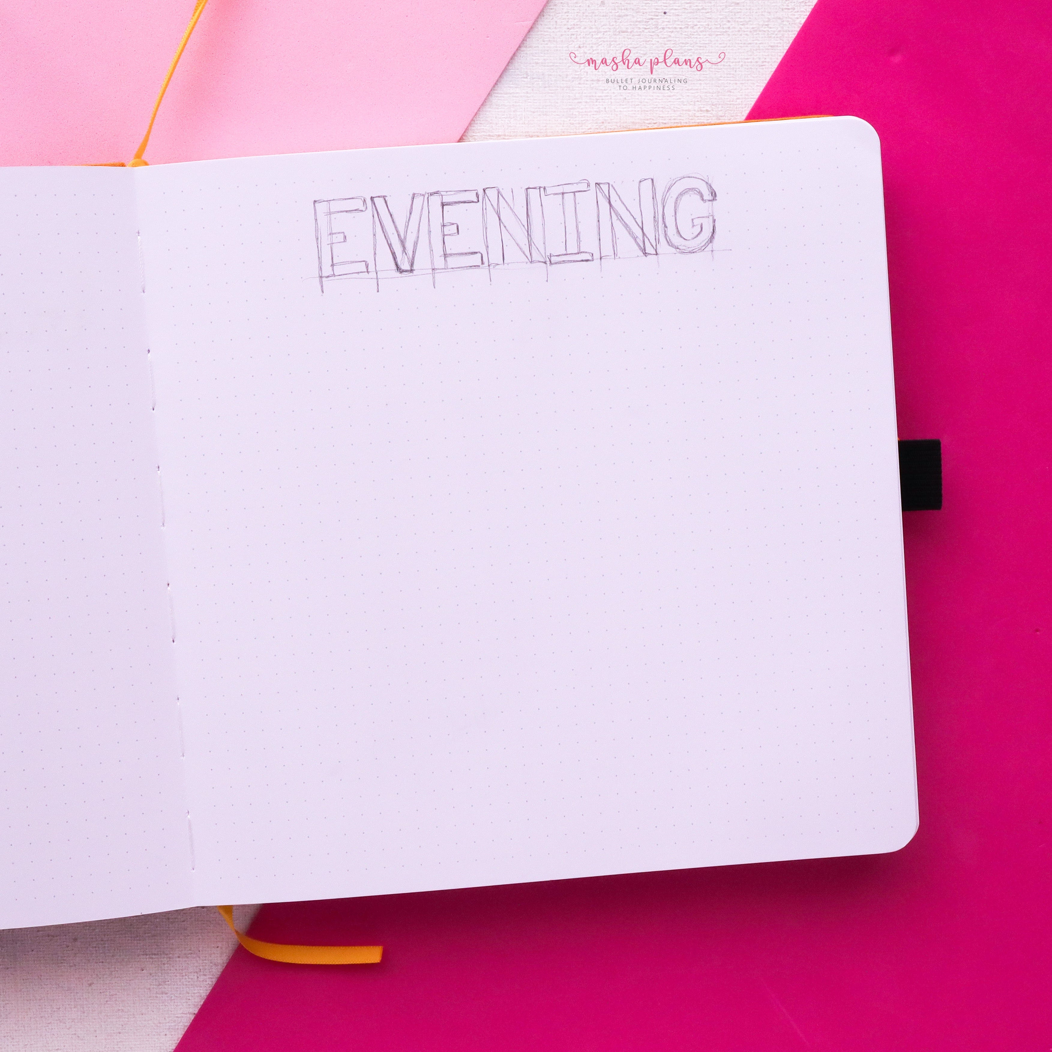 masha plans, evening routine, archer and olive, square journal