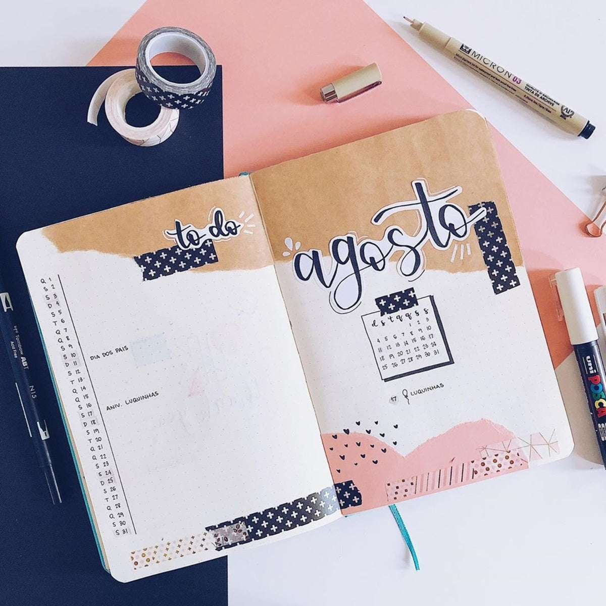 Kraft Paper Bullet Journal