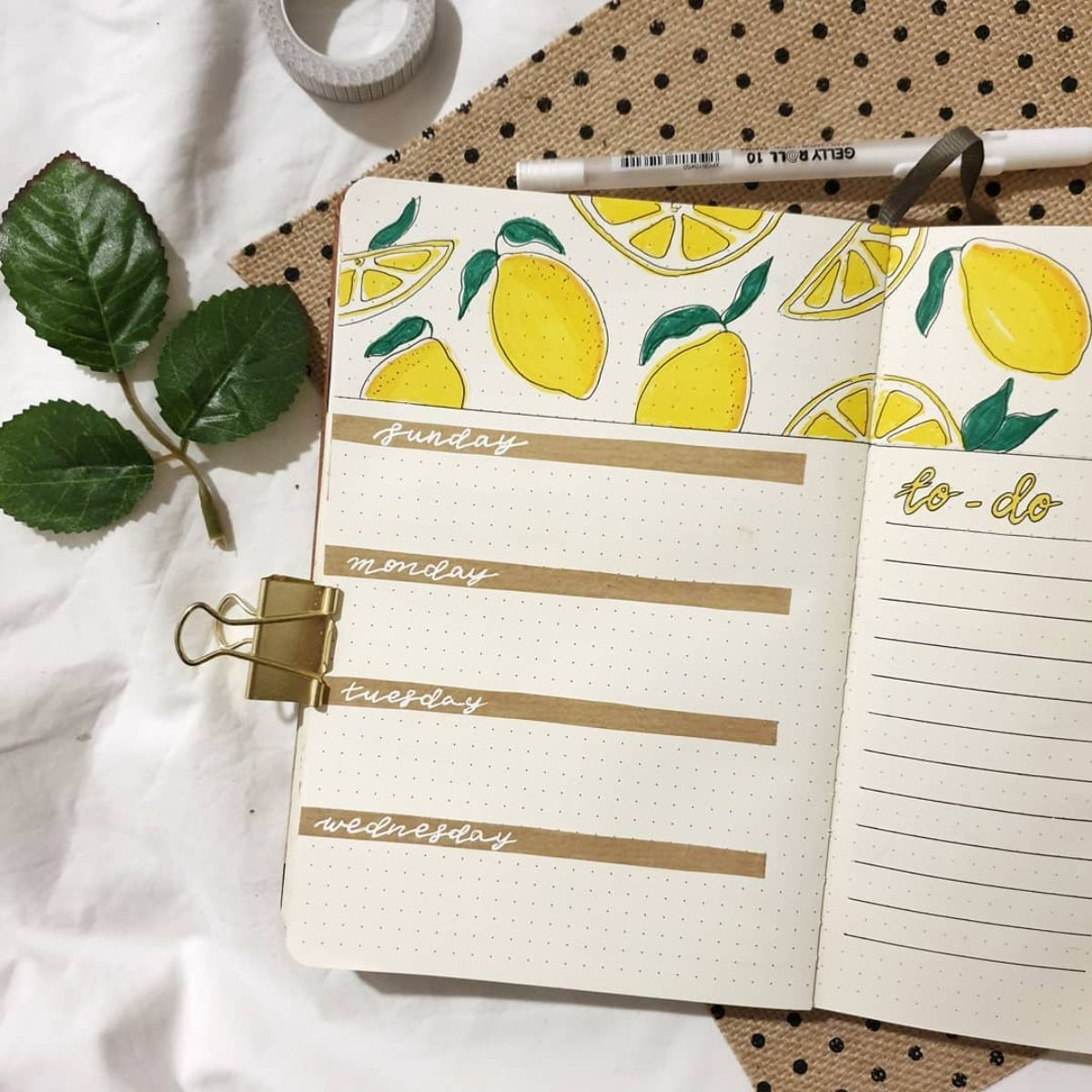 Kraft Paper Header Bullet Journal