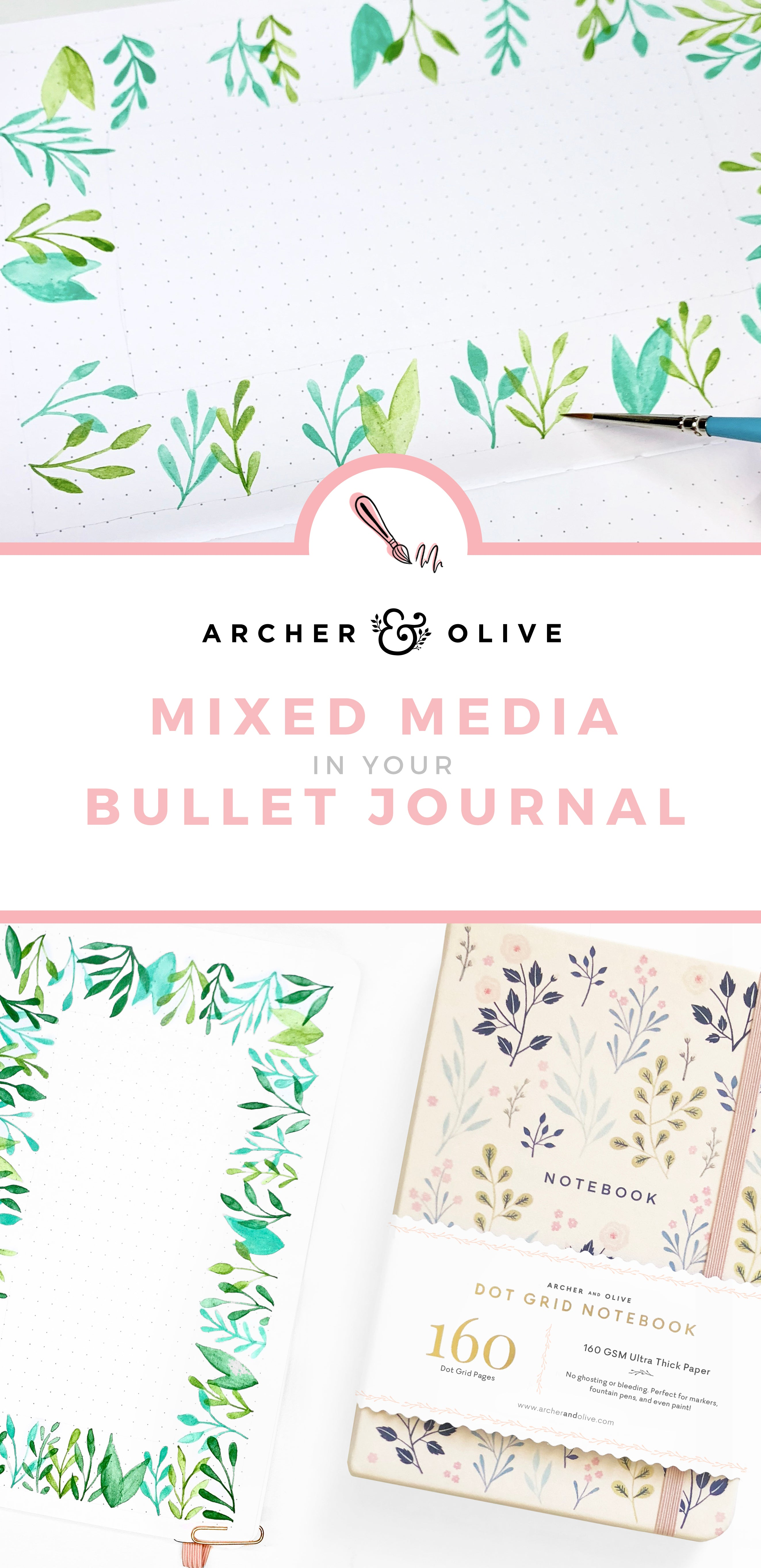 Using Mixed Media In Your Bullet Journal