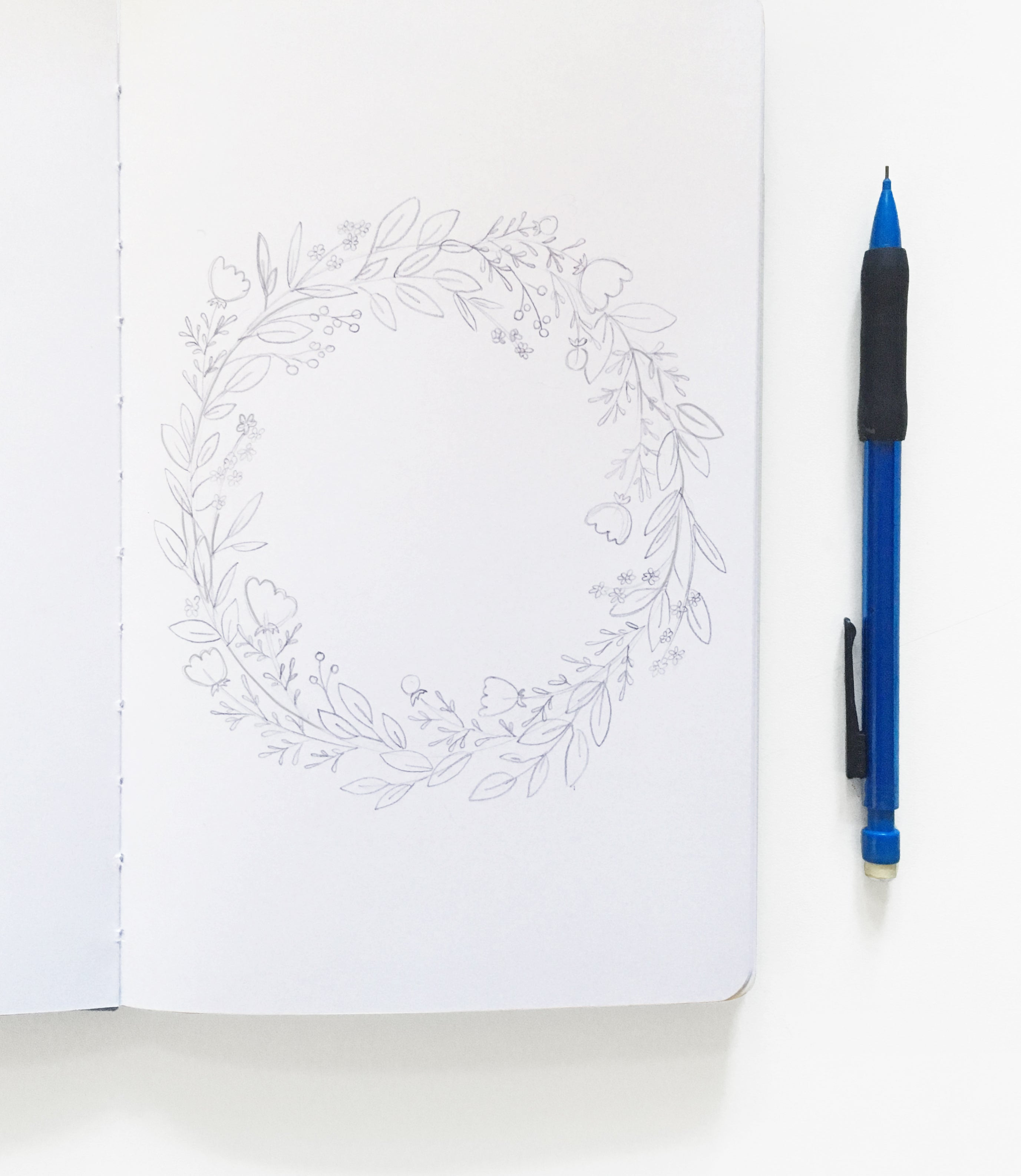 How to paint a floral wreath archer and olive feel free to draw extra branches or flowers in areas where your wreath looks thin berries make a great filler if you need an additional element izmirmasajfo