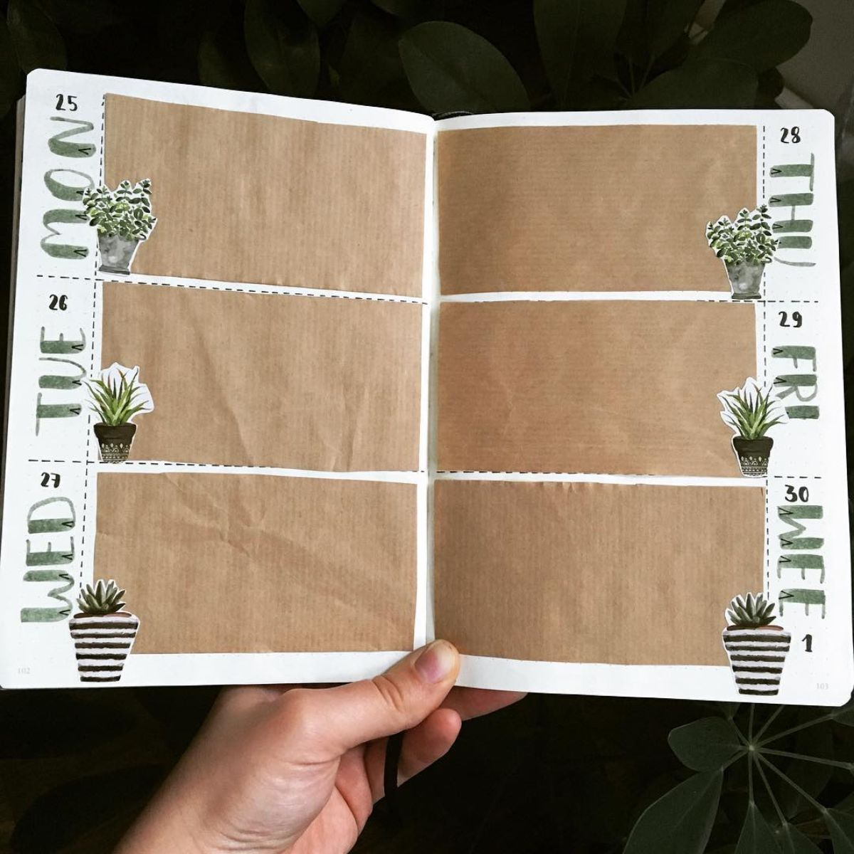 Using Kraft Paper in your Bullet Journal