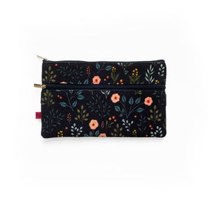 Night Garden Pencil Pouch Attaches to Journal