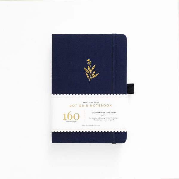LIMITED EDITION Bell Flower A5 Dot Grid Notebook With Gold Gilded Edges