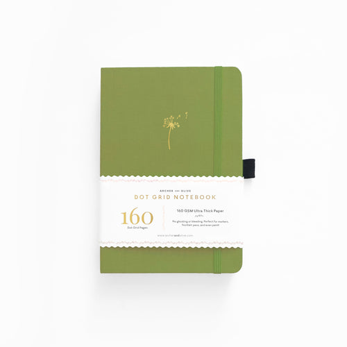 A5 Dandelion Dreams Dot Grid Notebook- Begins shipping on the 24th of November