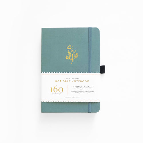LIMITED EDITION Lovely Rose A5 Dot Grid Notebook With Gold Gilded Edges
