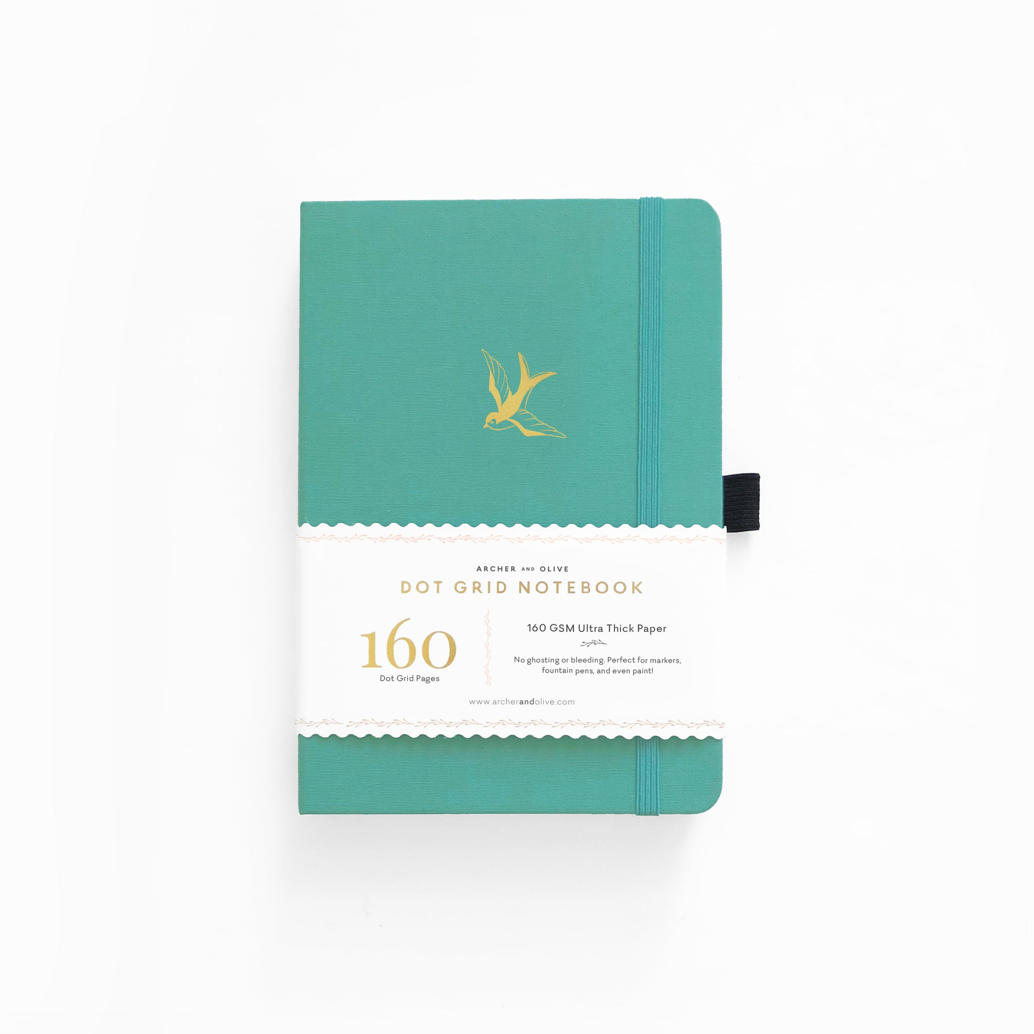 A5 Gliding Swallow Dot Grid Notebook