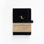 A5 Crescent Moon Kraft Paper Dot Grid Notebook