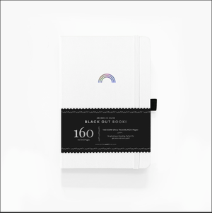 A5 Rainbow Notebook On White Cover With Black Pages