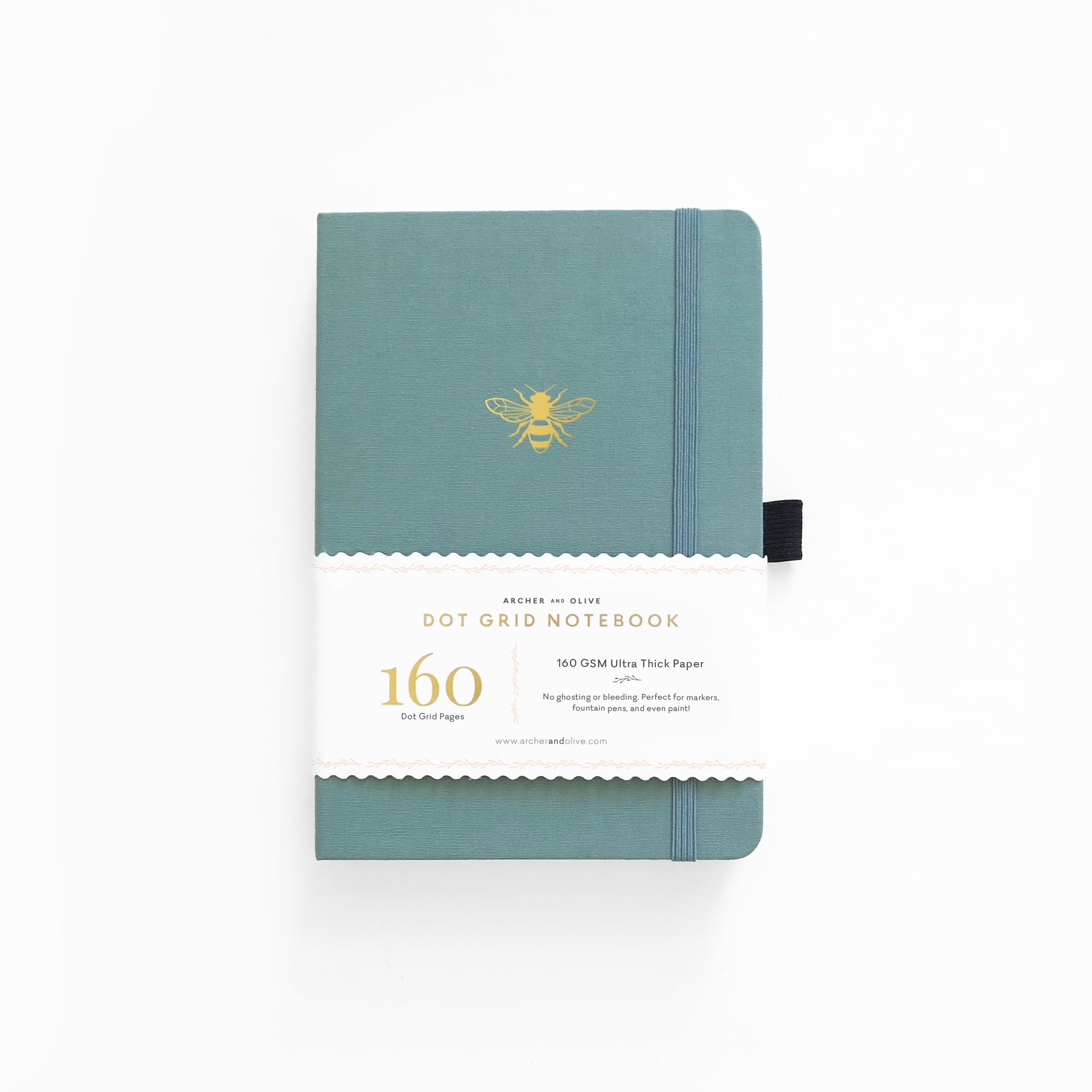 A5 Vintage Bee With Gold Edges Dot Grid Notebook