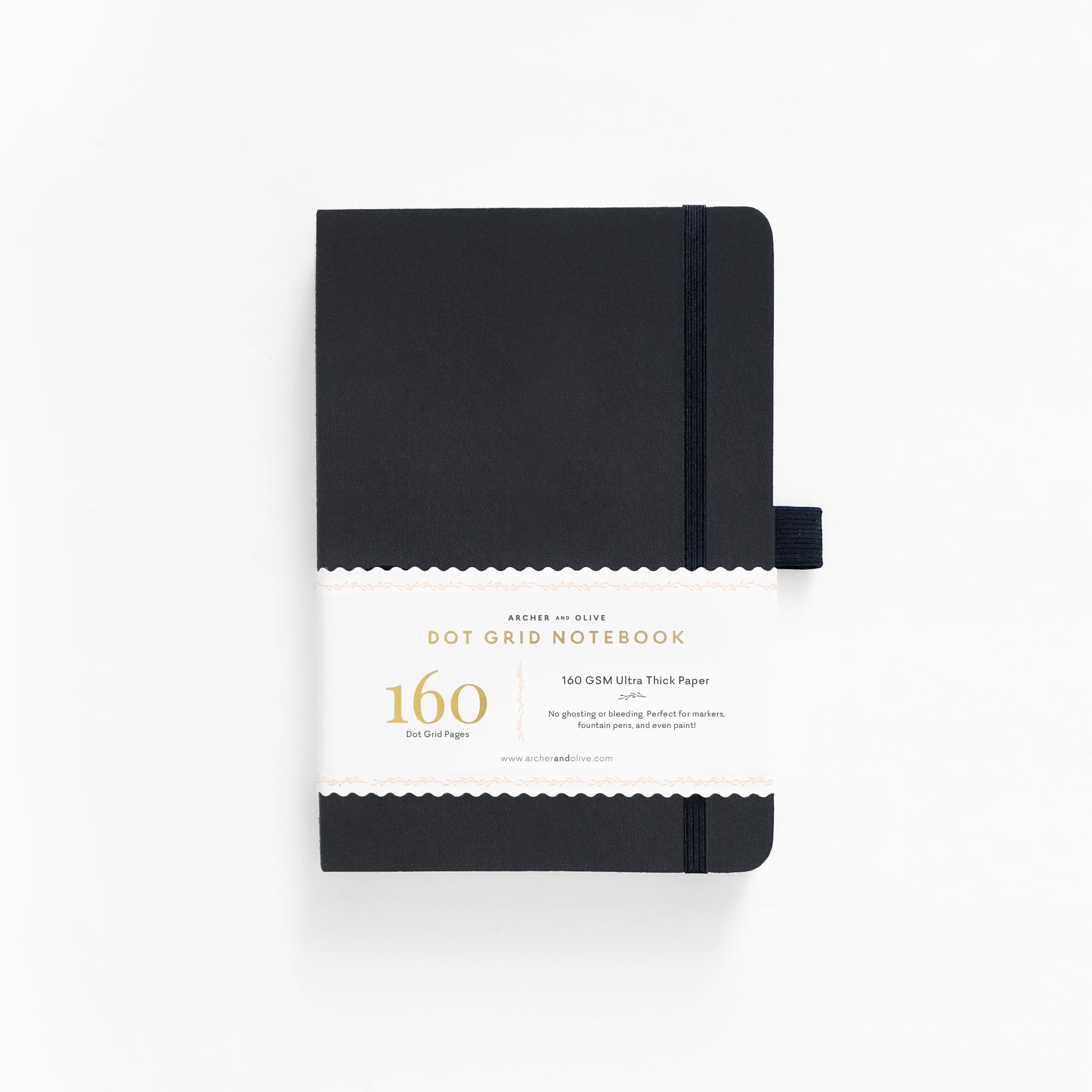 A5 Hard Cover Black Dot Grid Notebook