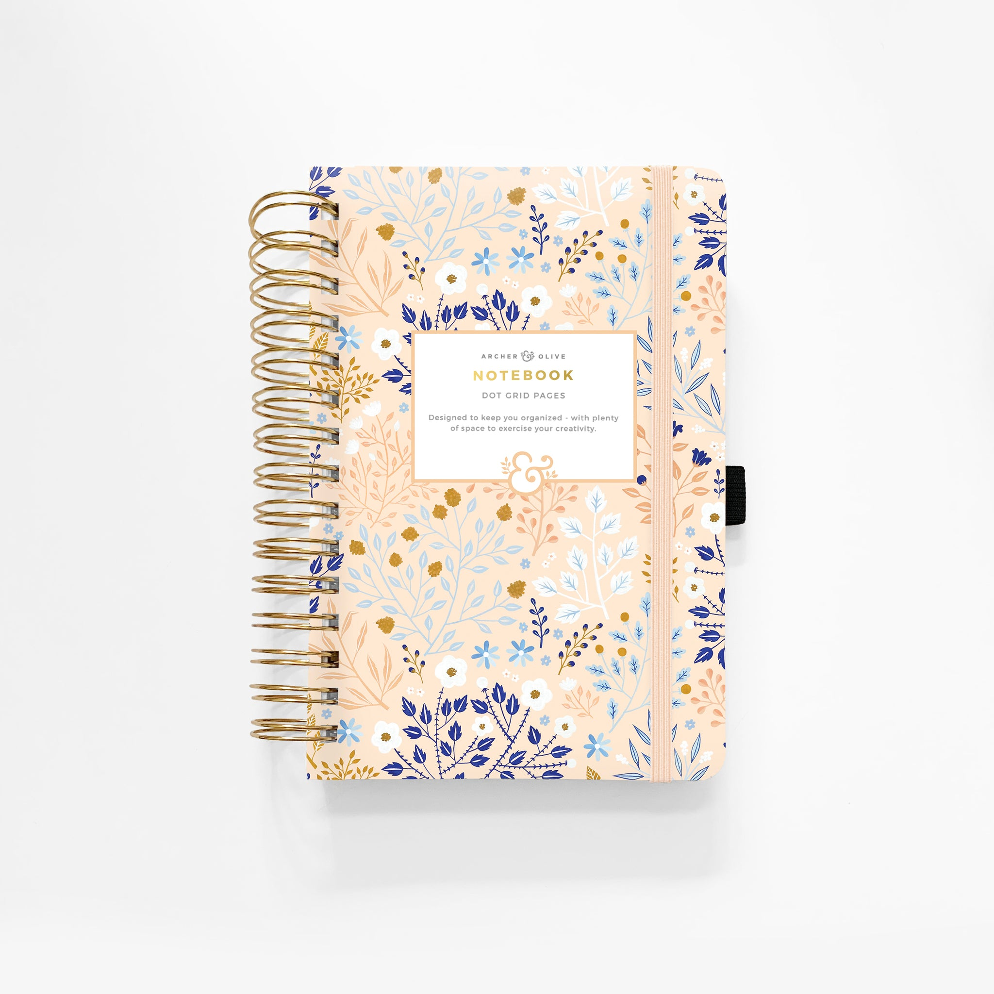 A5 Blush-A-Bye Spiral Bound Dot Grid Notebook