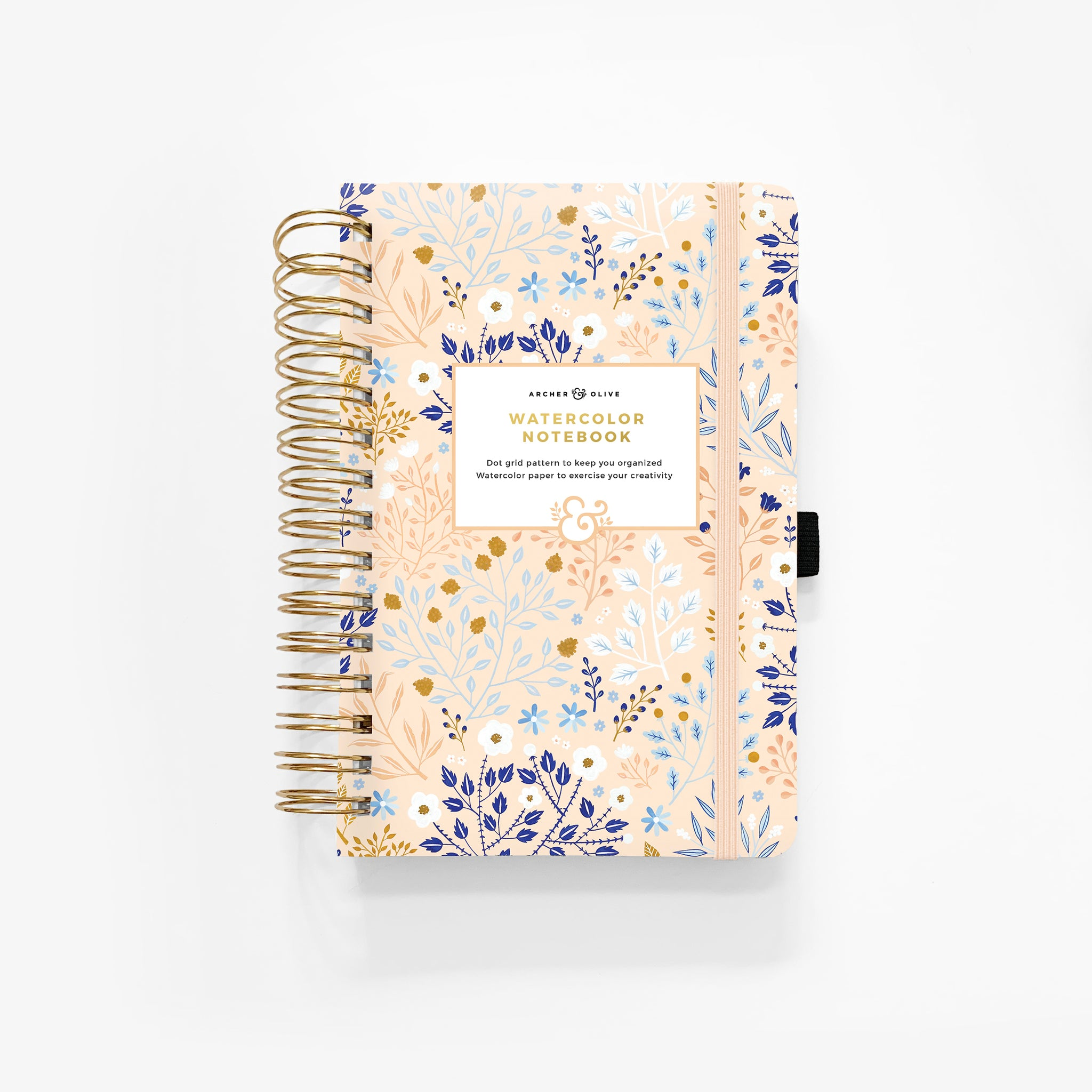 A5 Blush-A-Bye Watercolor Dot Grid Notebook