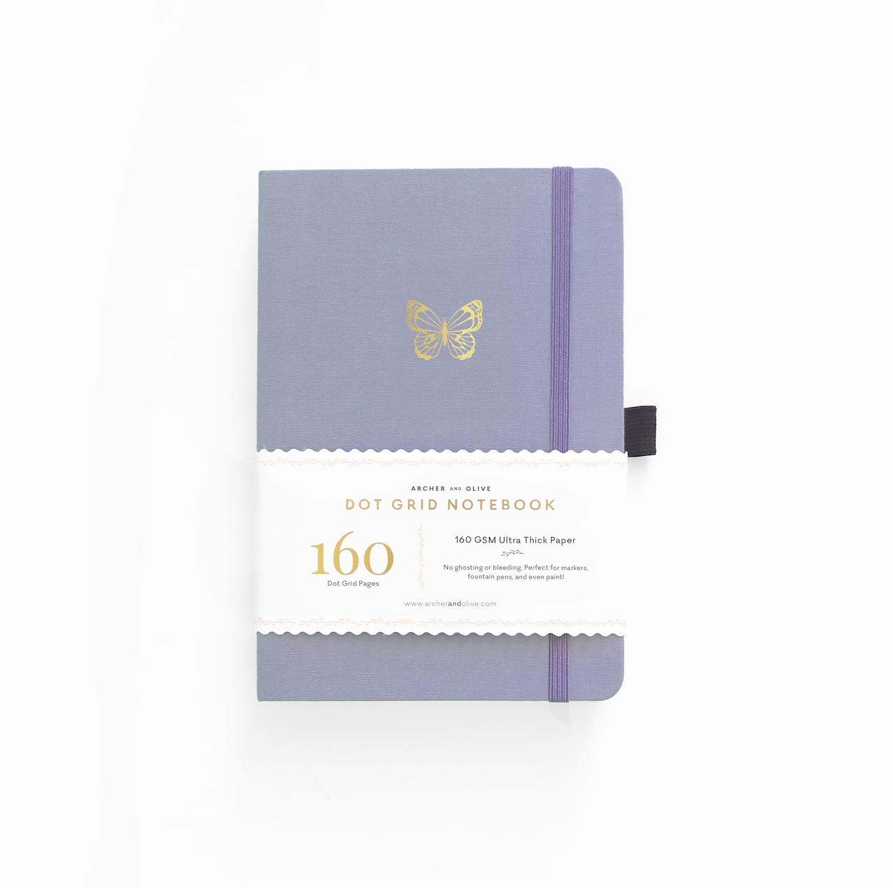 A5 Butterfly Wings Dot Grid Notebook